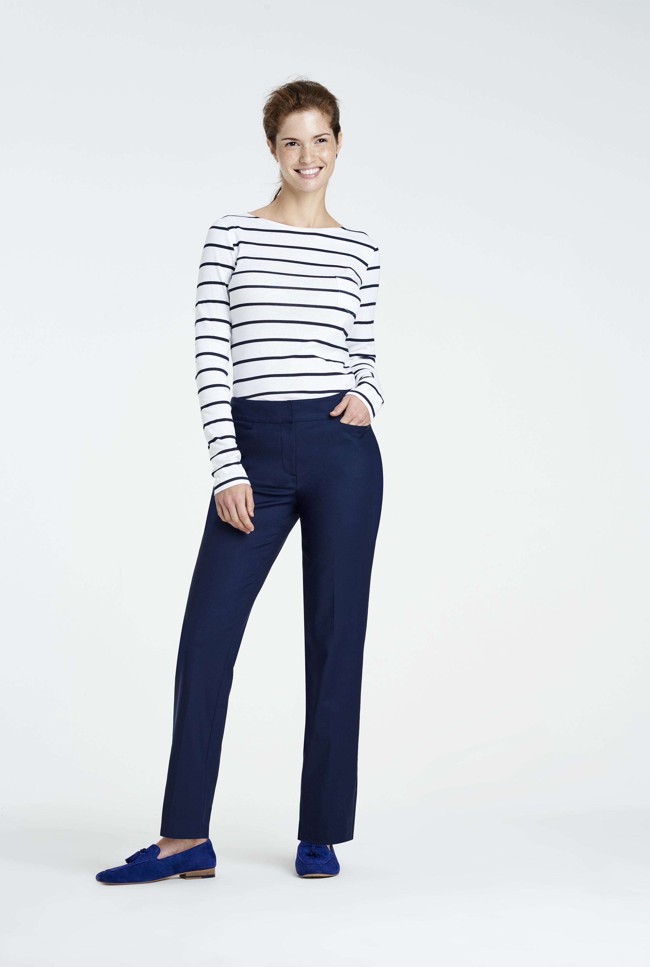 Navy Clean Sharp Straight Leg Suit Trouser