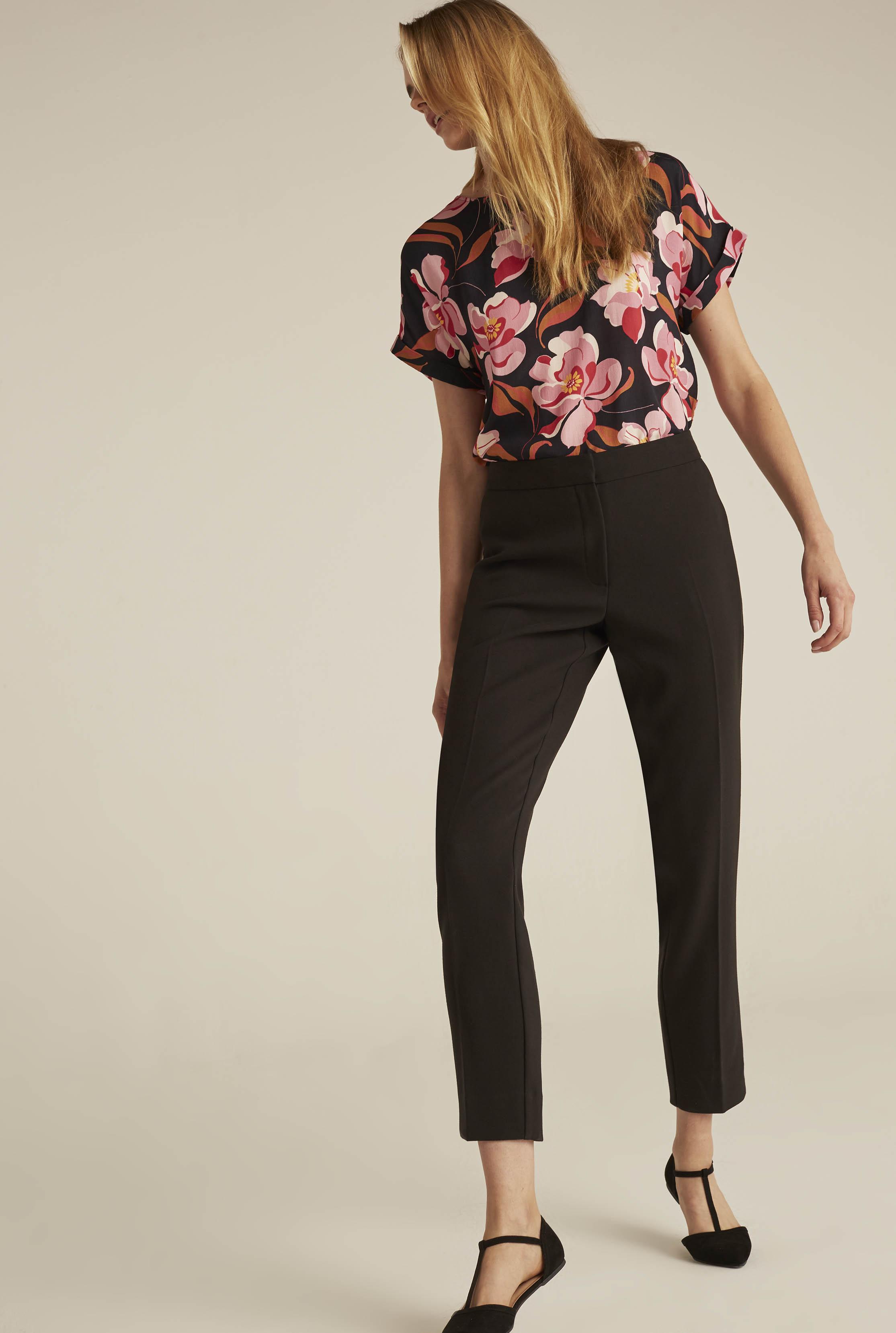 Black Modern 7/8 Suit Trousers