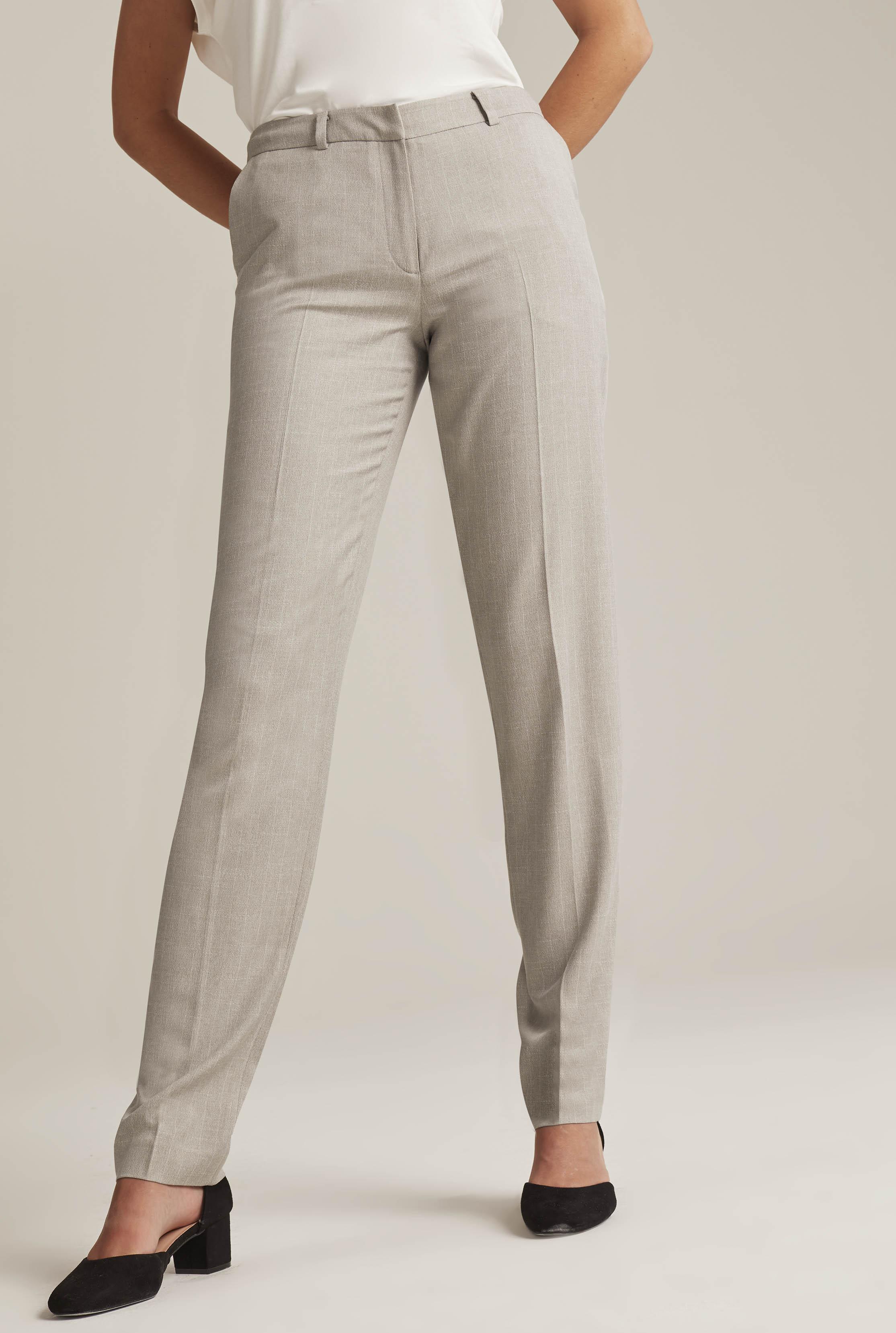 Grey Tailored Cigarette Leg Suit Trouser