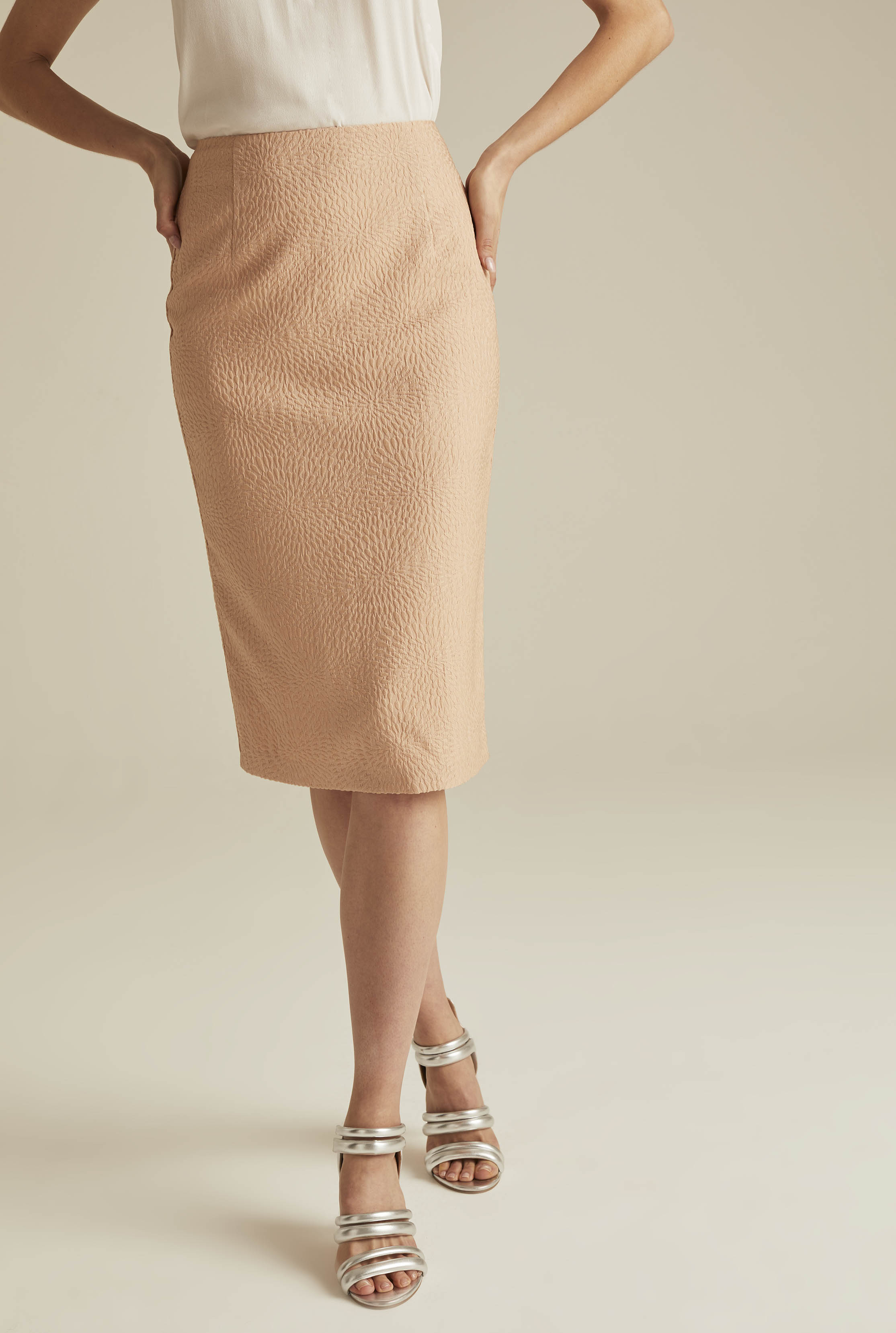 Nude Occasion Jacquard Suit Skirt