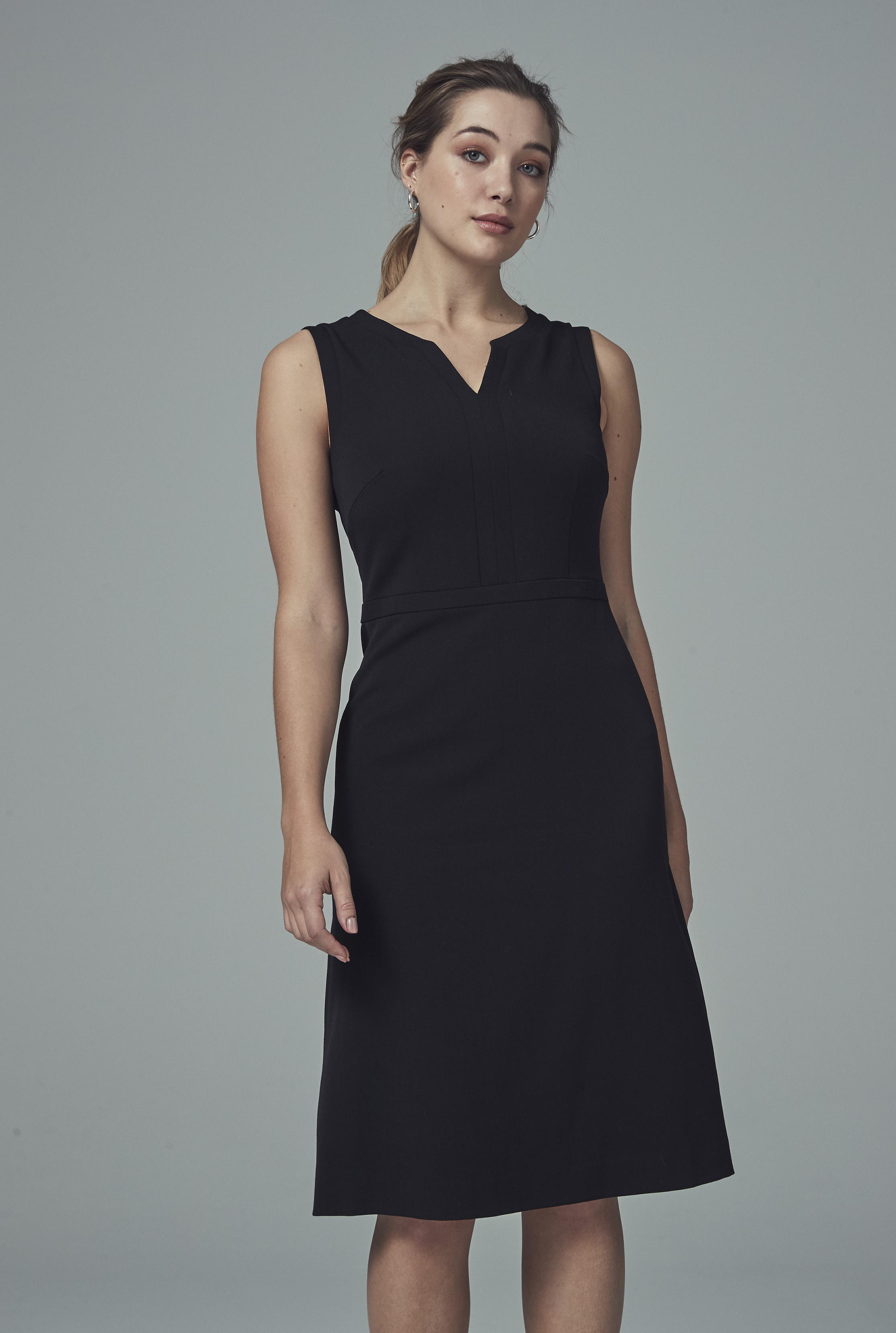 Black A-line Suit Dress
