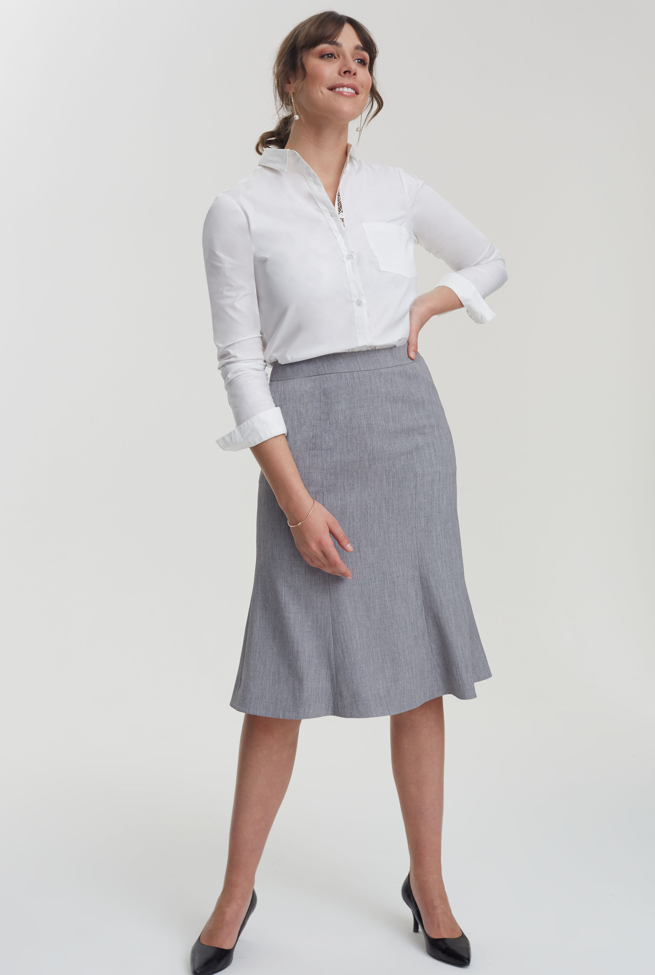 Grey Flippy Suit Skirt