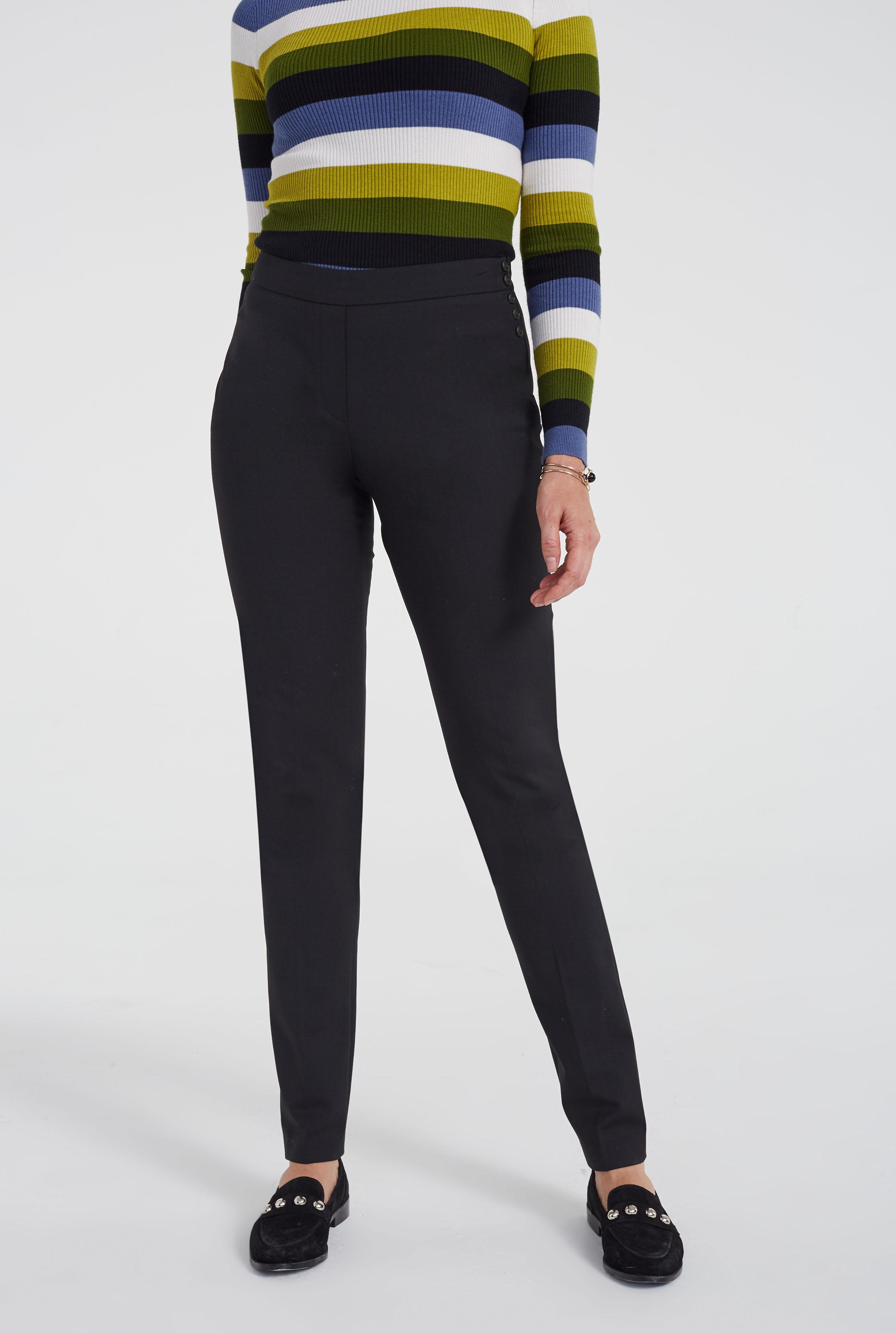 Premium Wool Blend Slim Leg Suit Trouser