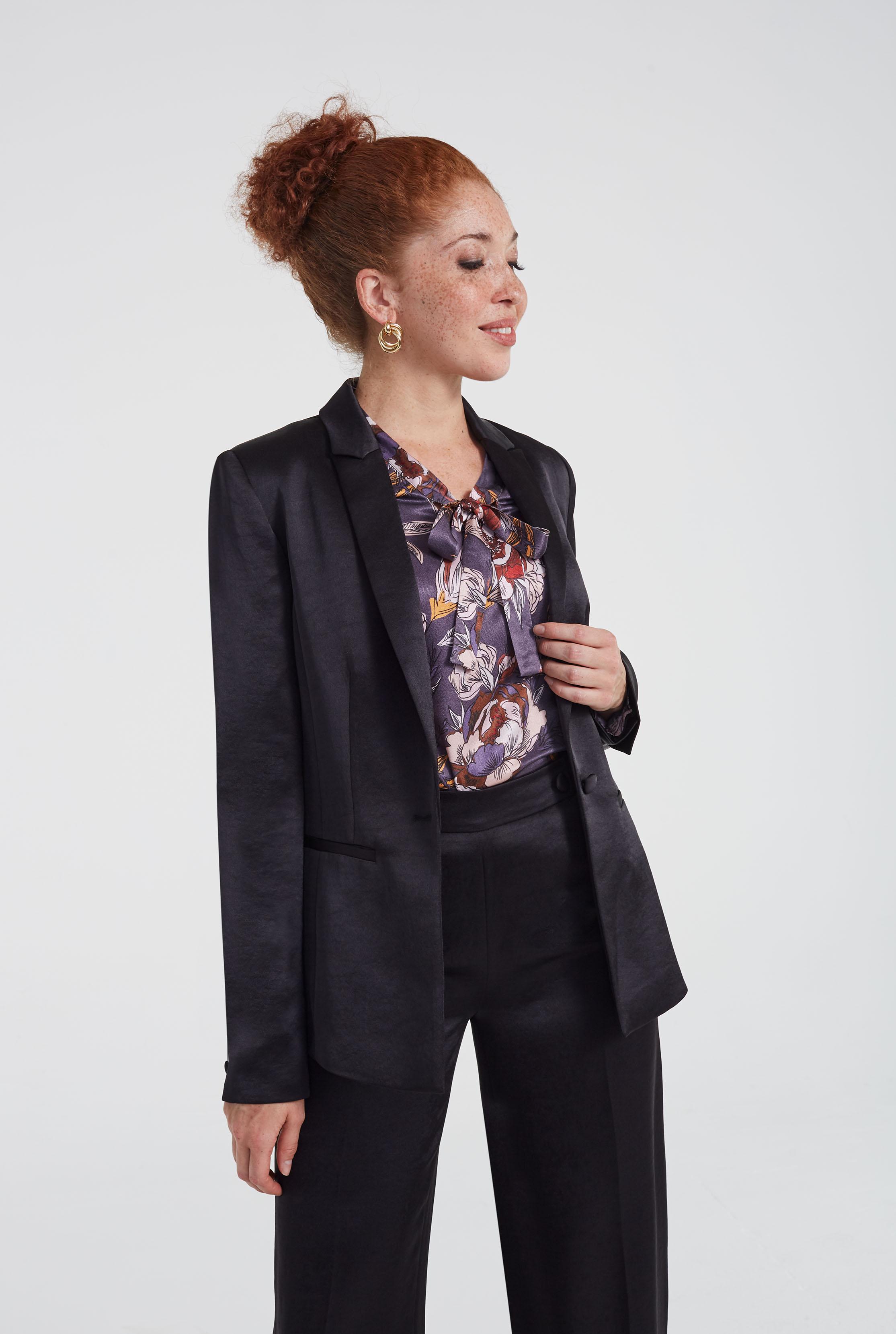 Black Satin Suit Jacket