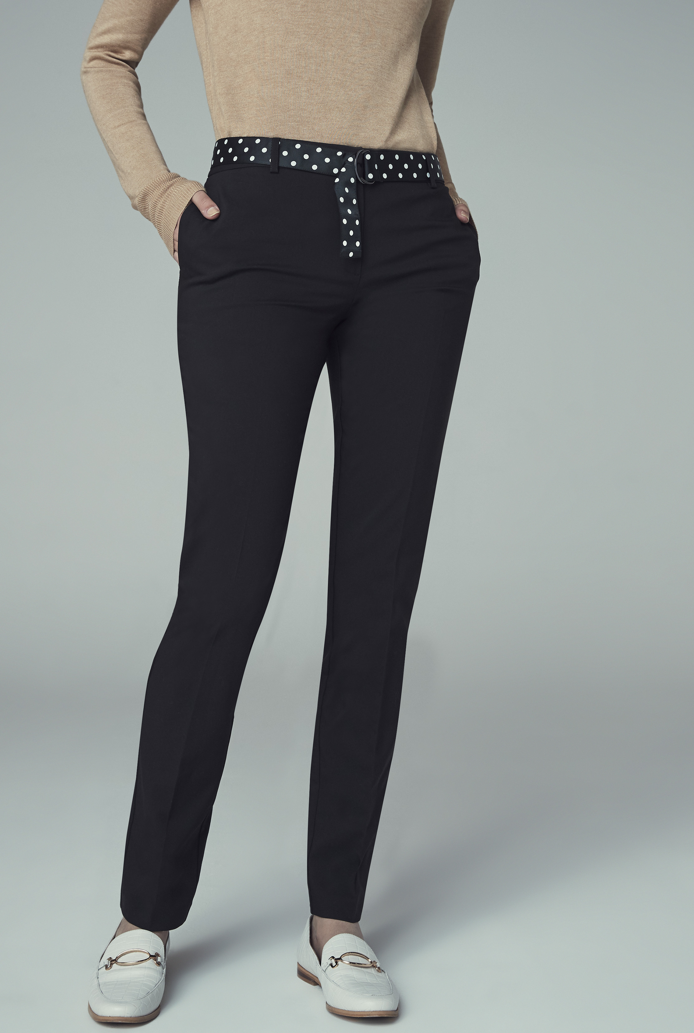 Black Cotton Rich Slim Leg Suit Trouser