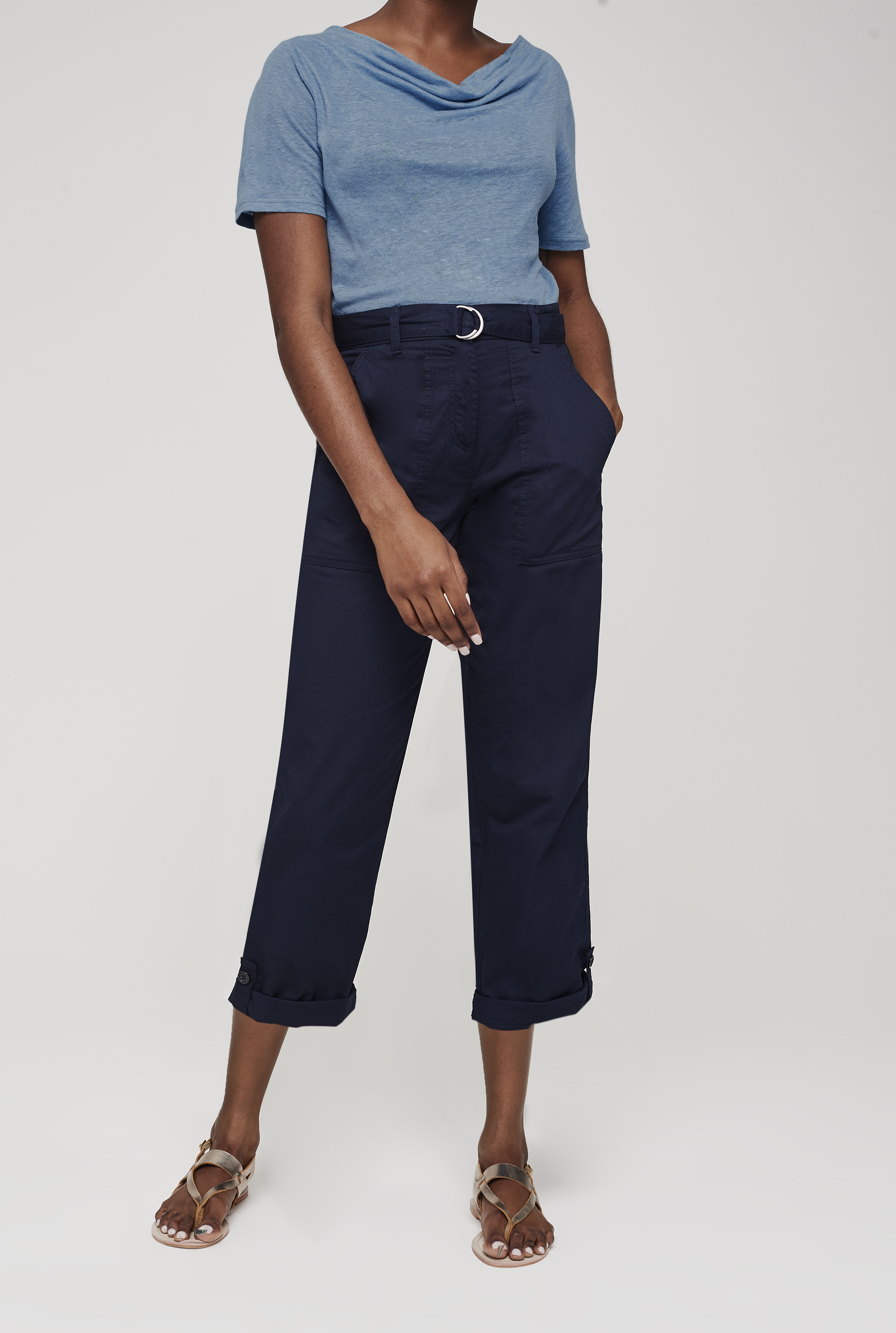 Pure Cotton Utility Trouser