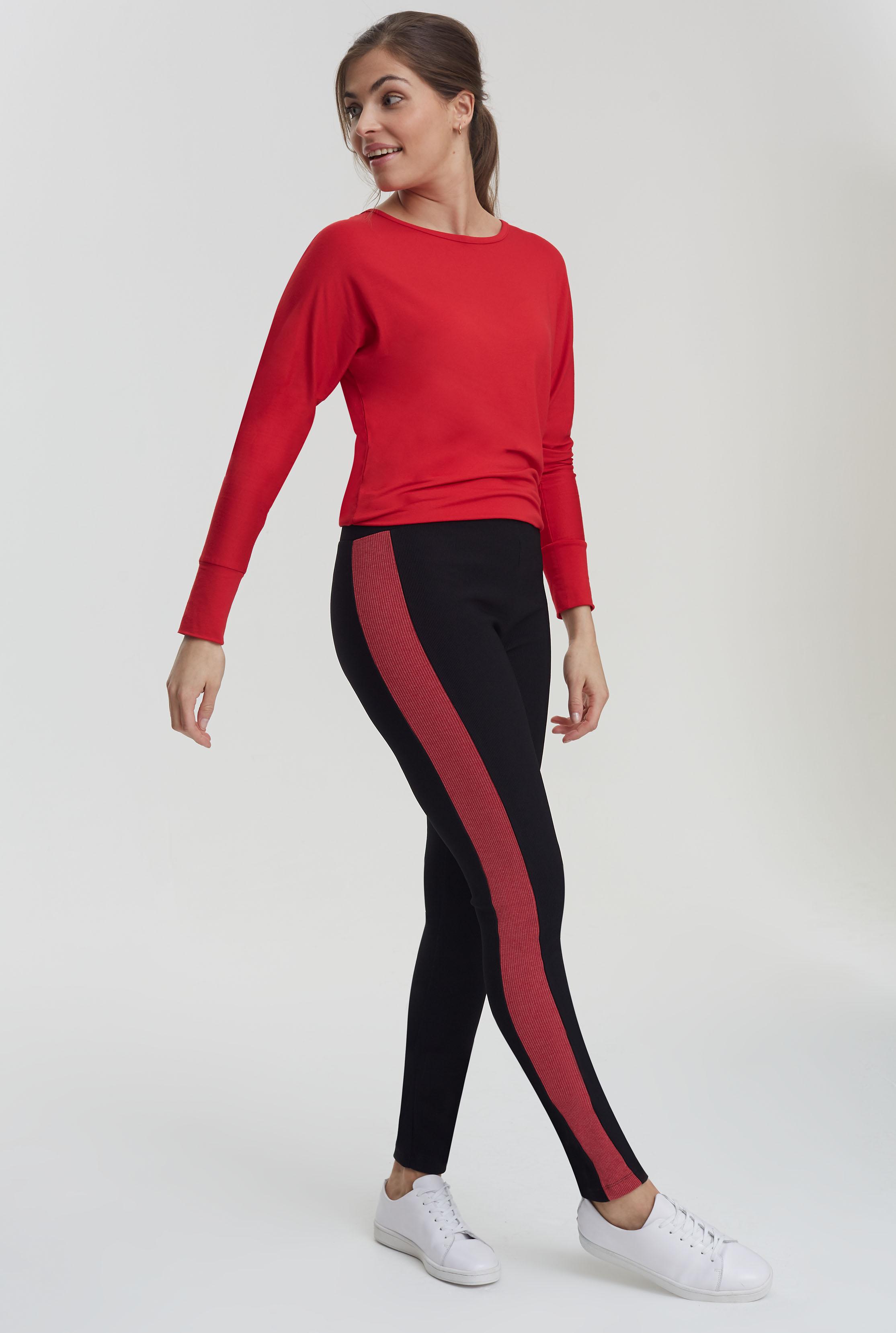Ribbed Side Stripe Legging