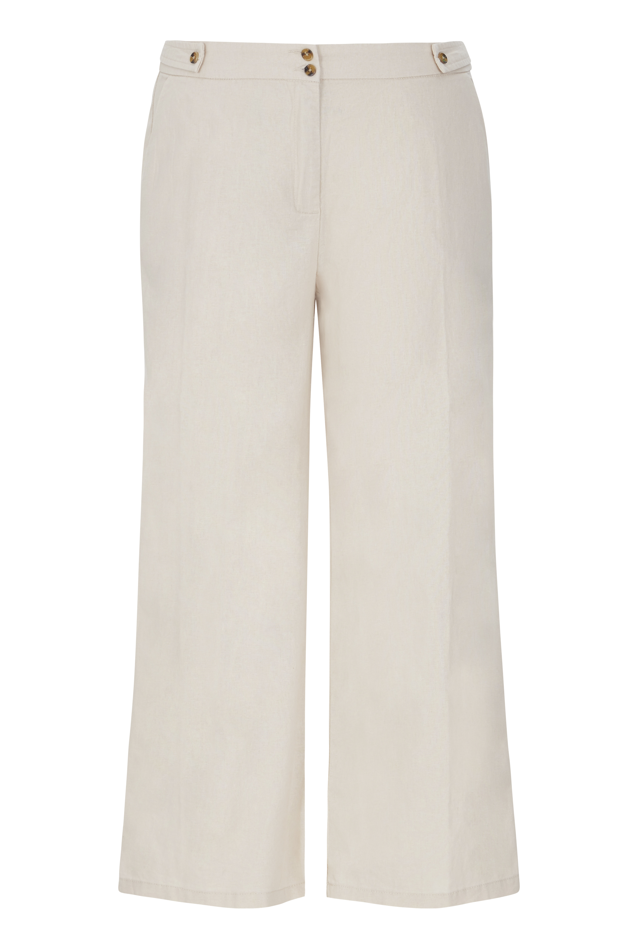 Ivory Natural Blend Wide Leg Culotte