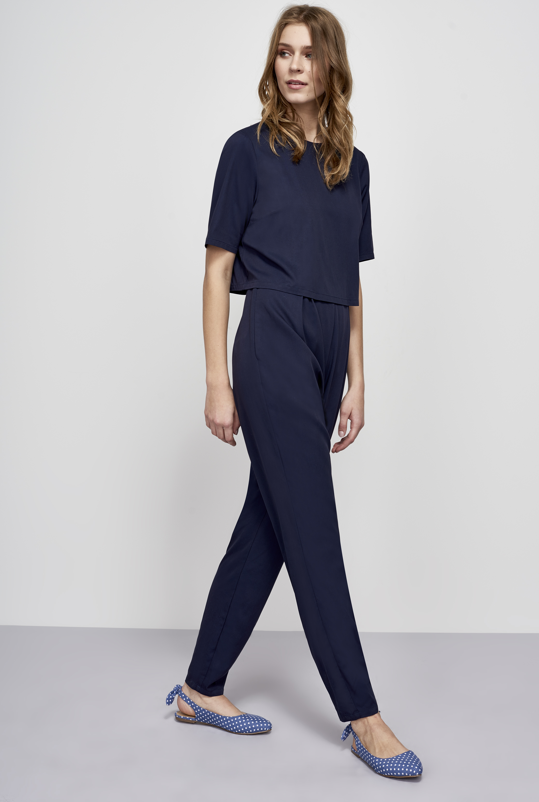 Y.A.S Navy Tall Andra Jumpsuit
