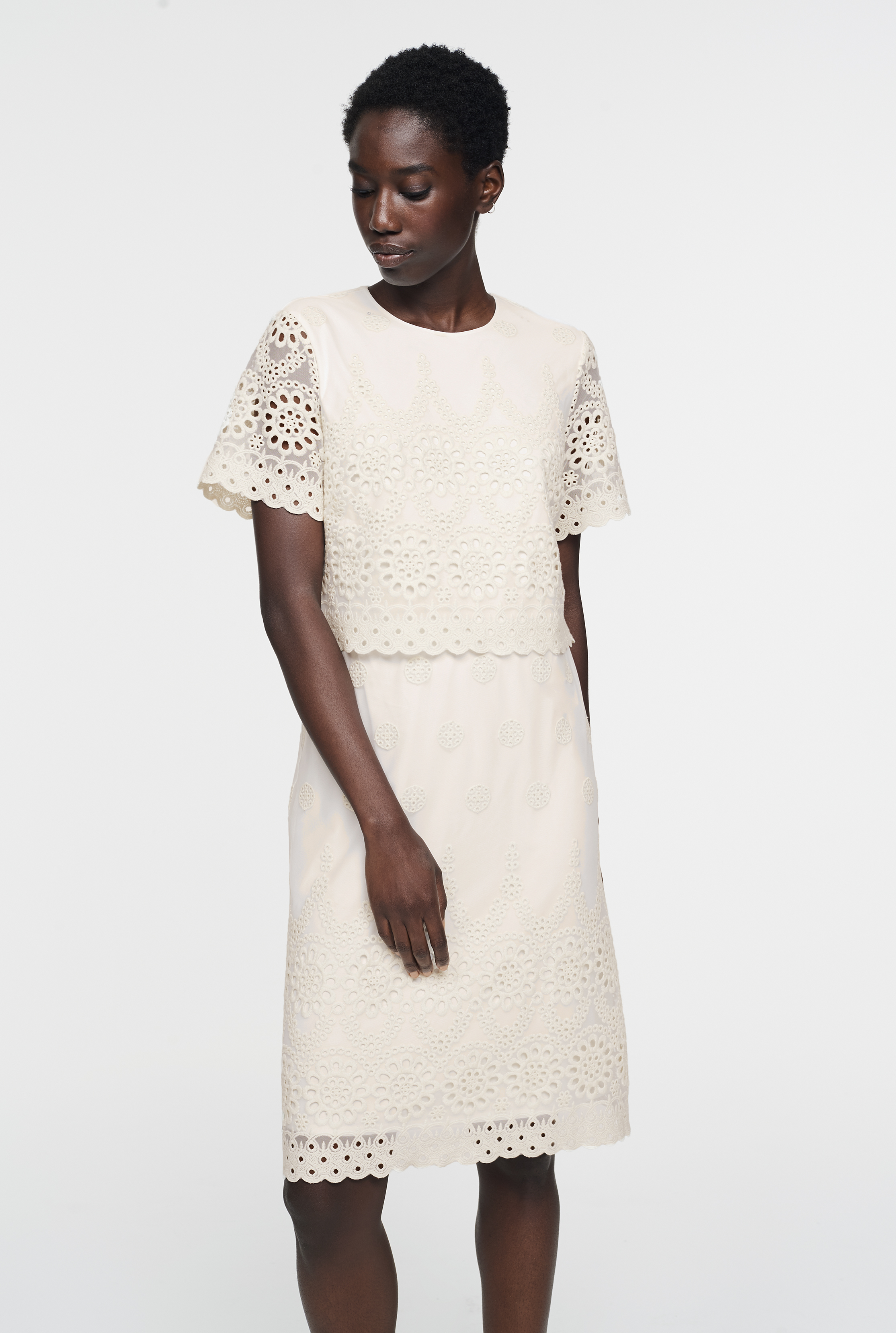 CURATD. x LTS Lace Overlay Dress