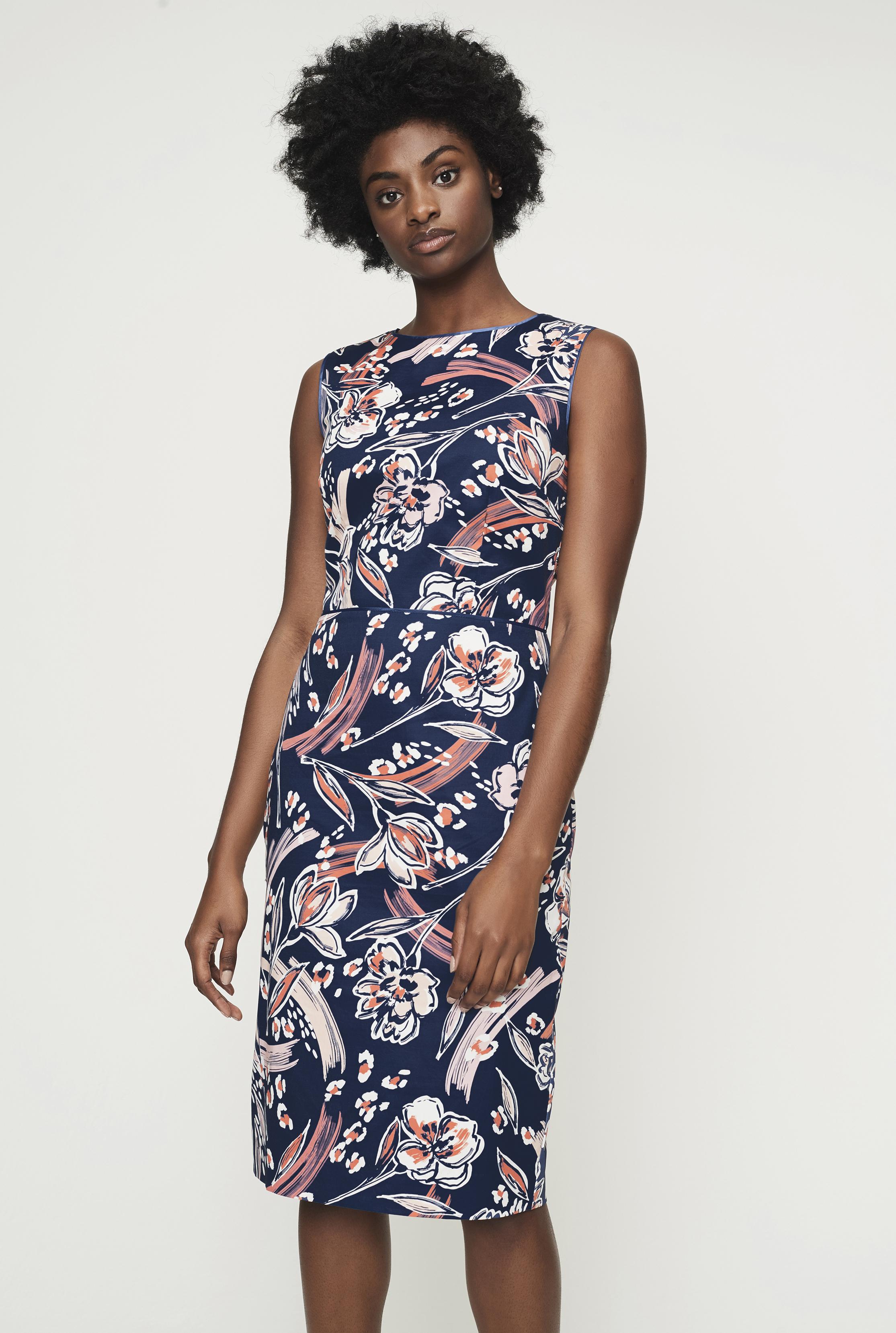 Floral Print Shift Dress