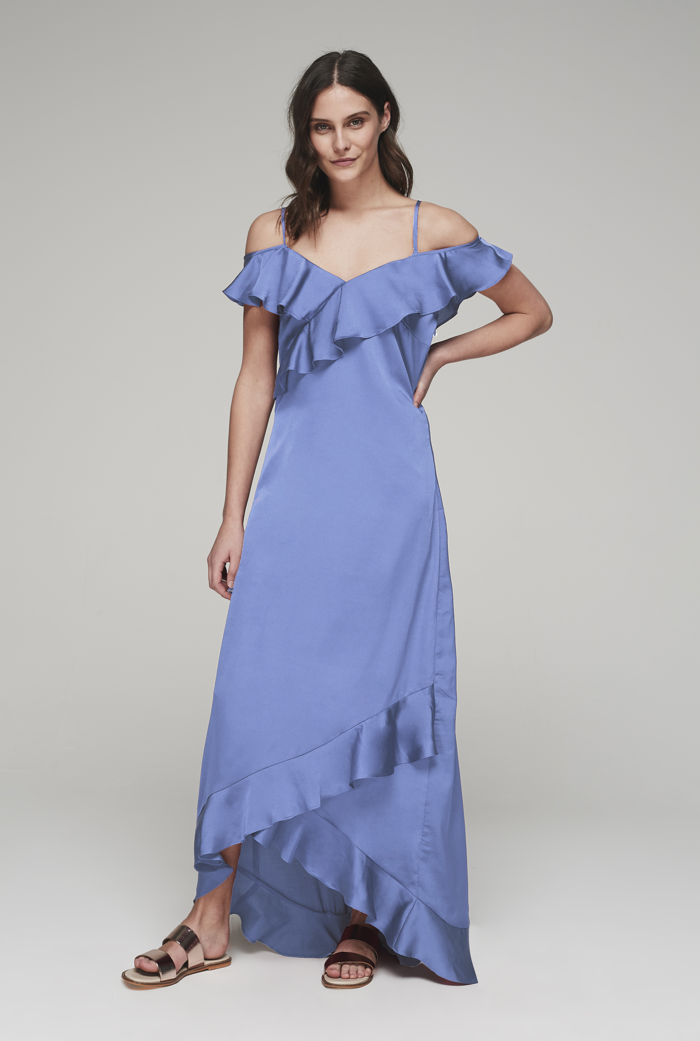 Y.A.S Blue Tall Fielle Maxi Dress