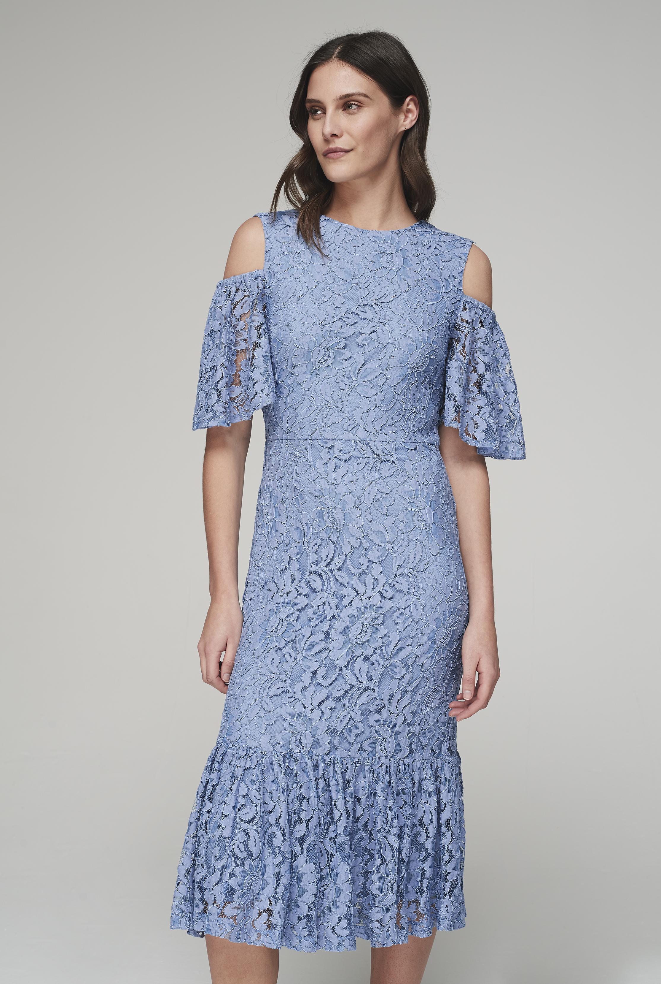 Y.A.S Tall Powder Blue Radic Lace Dress