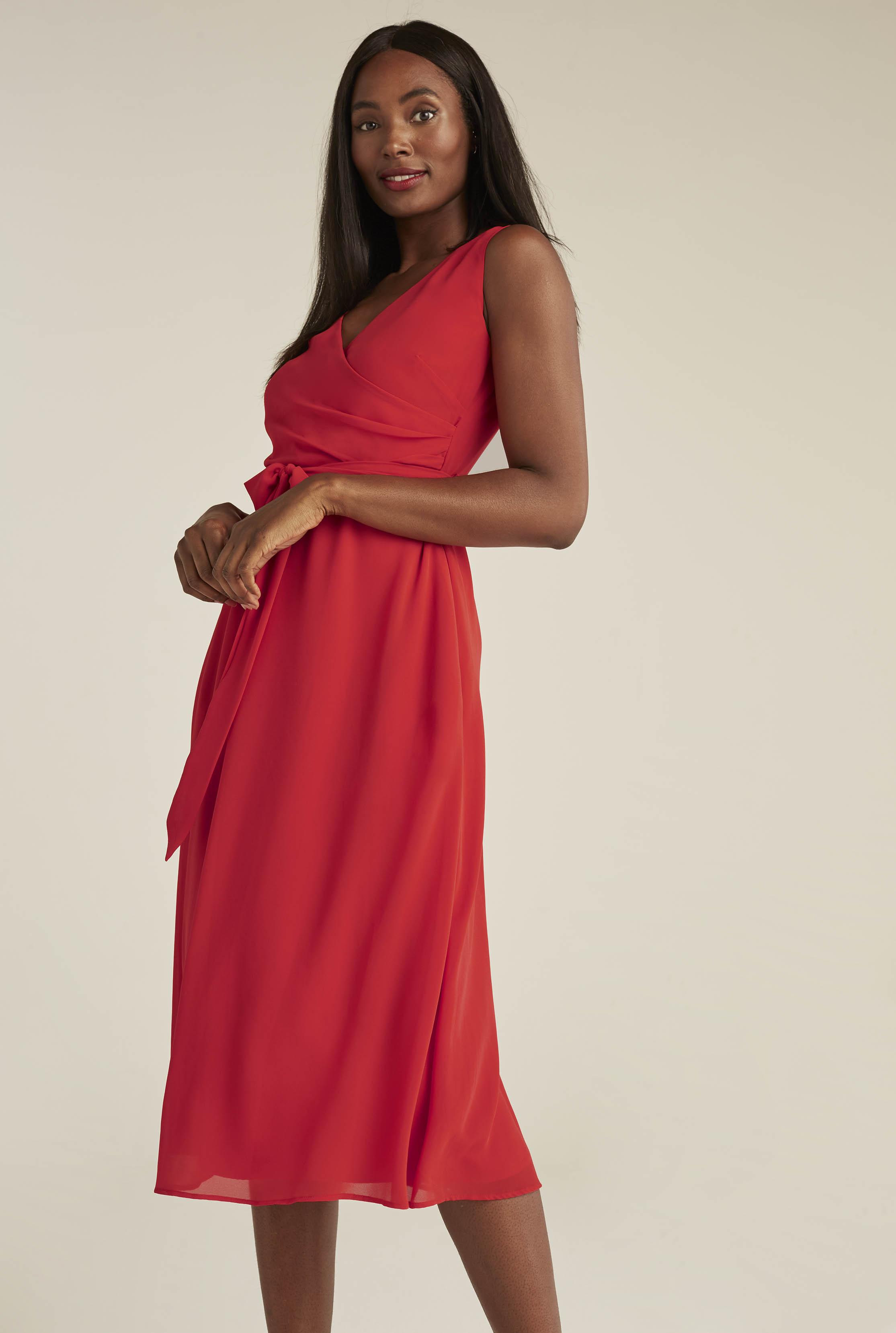 Soft Chiffon Wrap A-line Dress