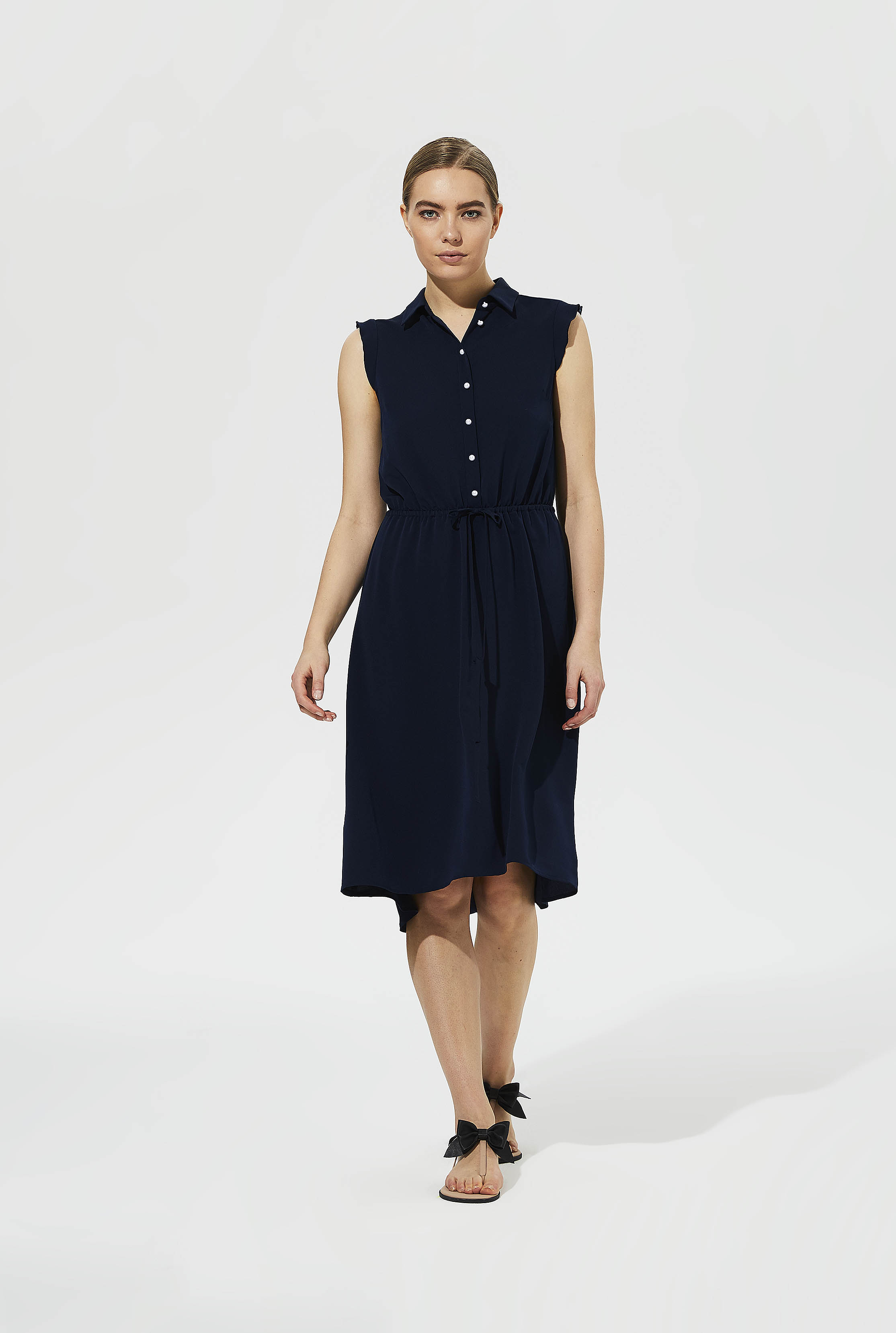 Karl Lagerfeld Paris Tie Waist Shirt Dress