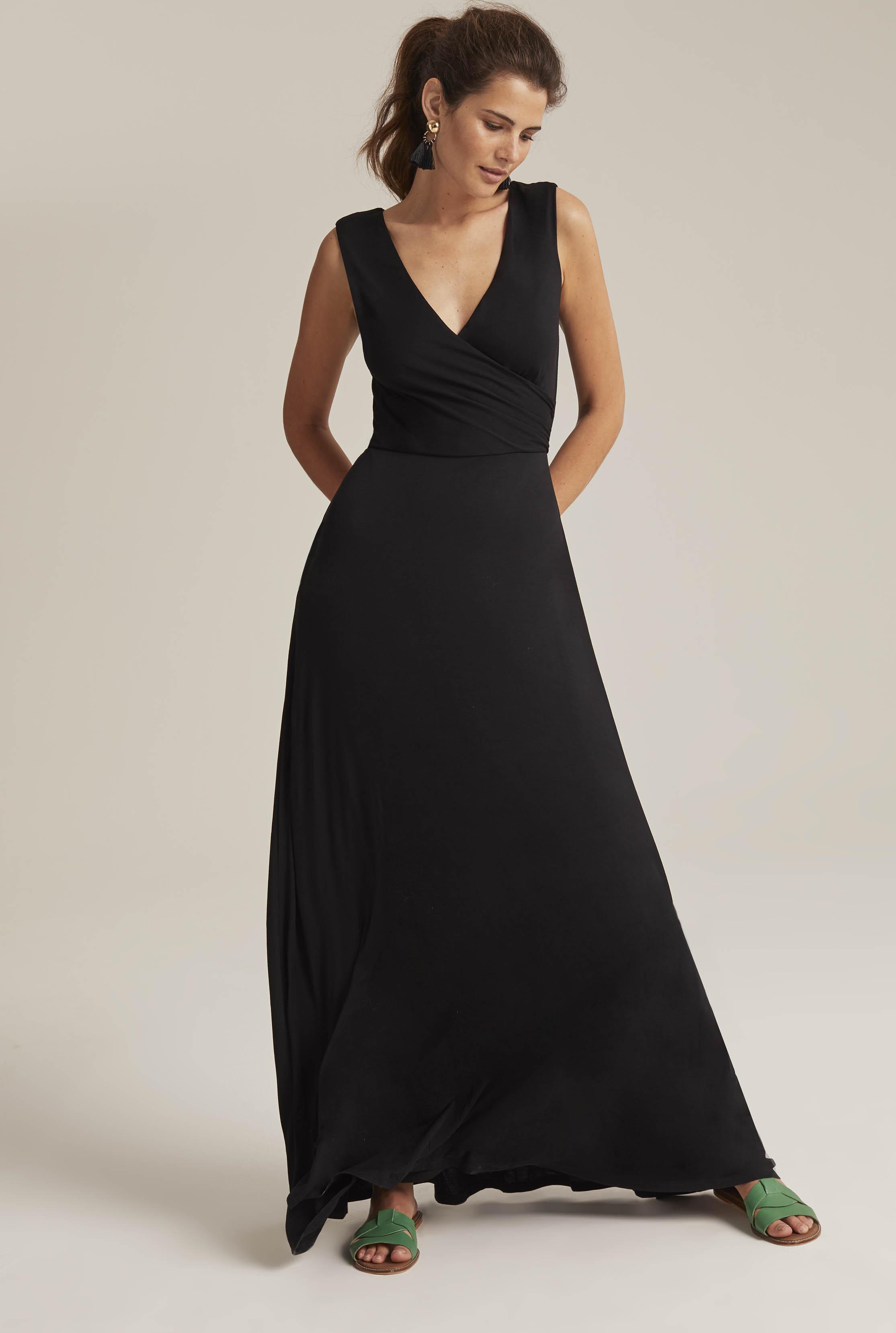 Black Wrap Maxi Dress