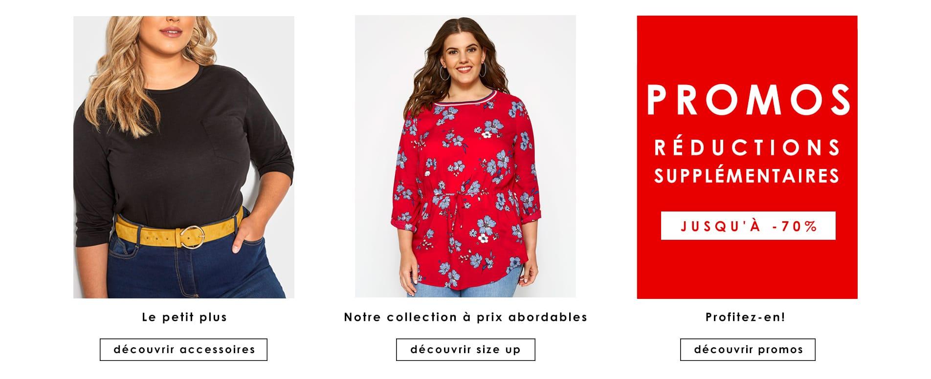 Accessoires, Size Up, Soldes, Promos >