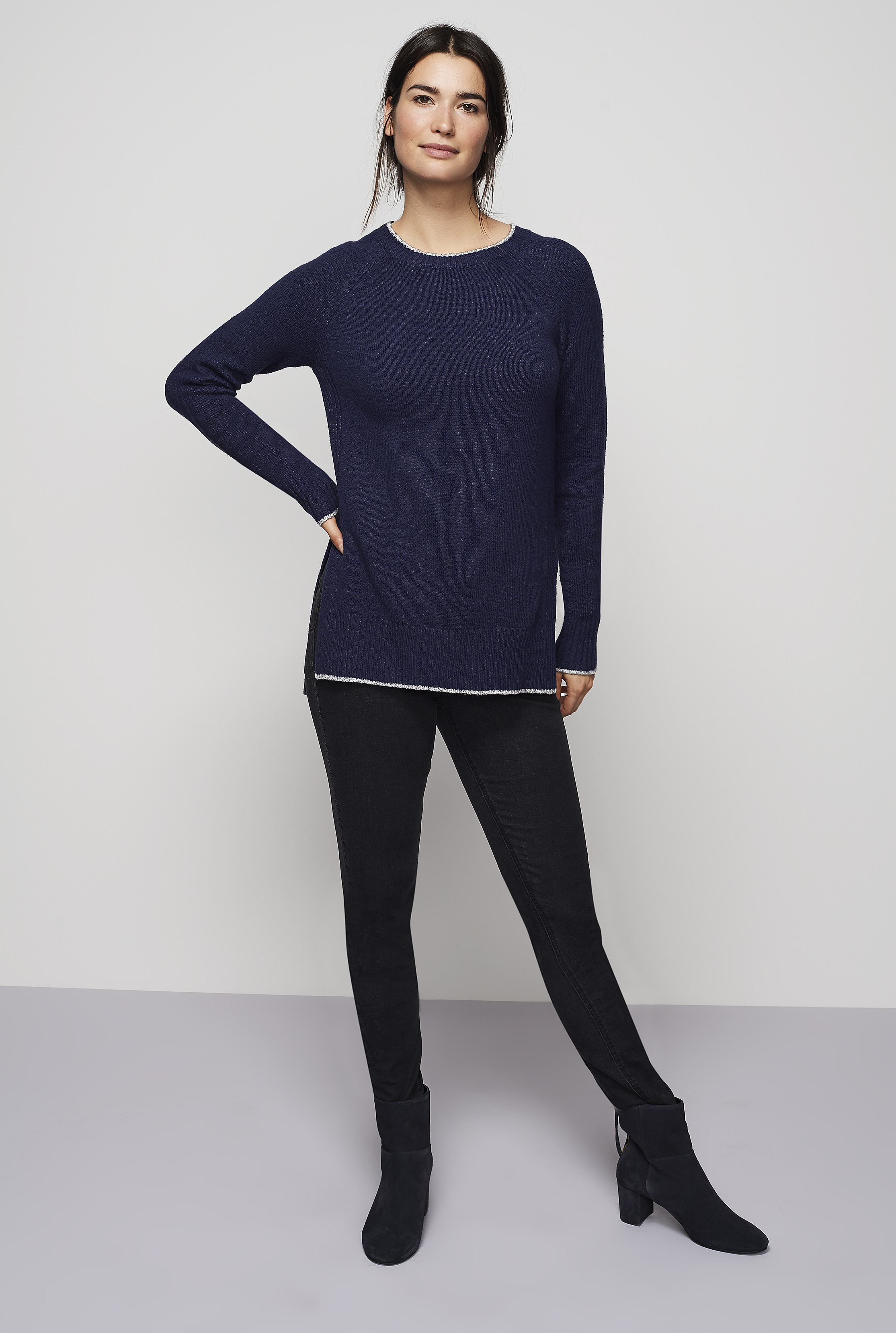 Longline Rib Detail Sweater