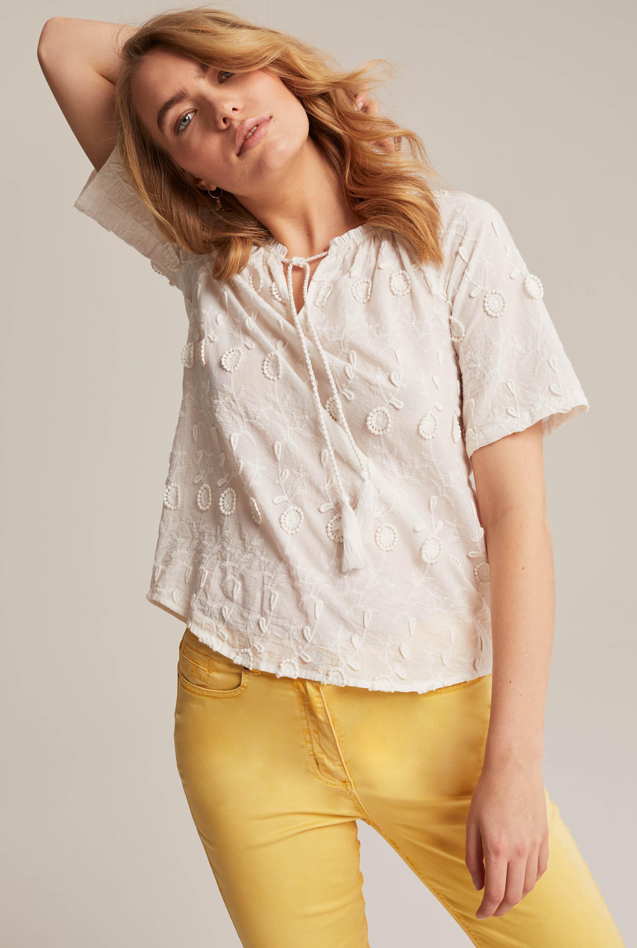 Cotton Applique Floral Top
