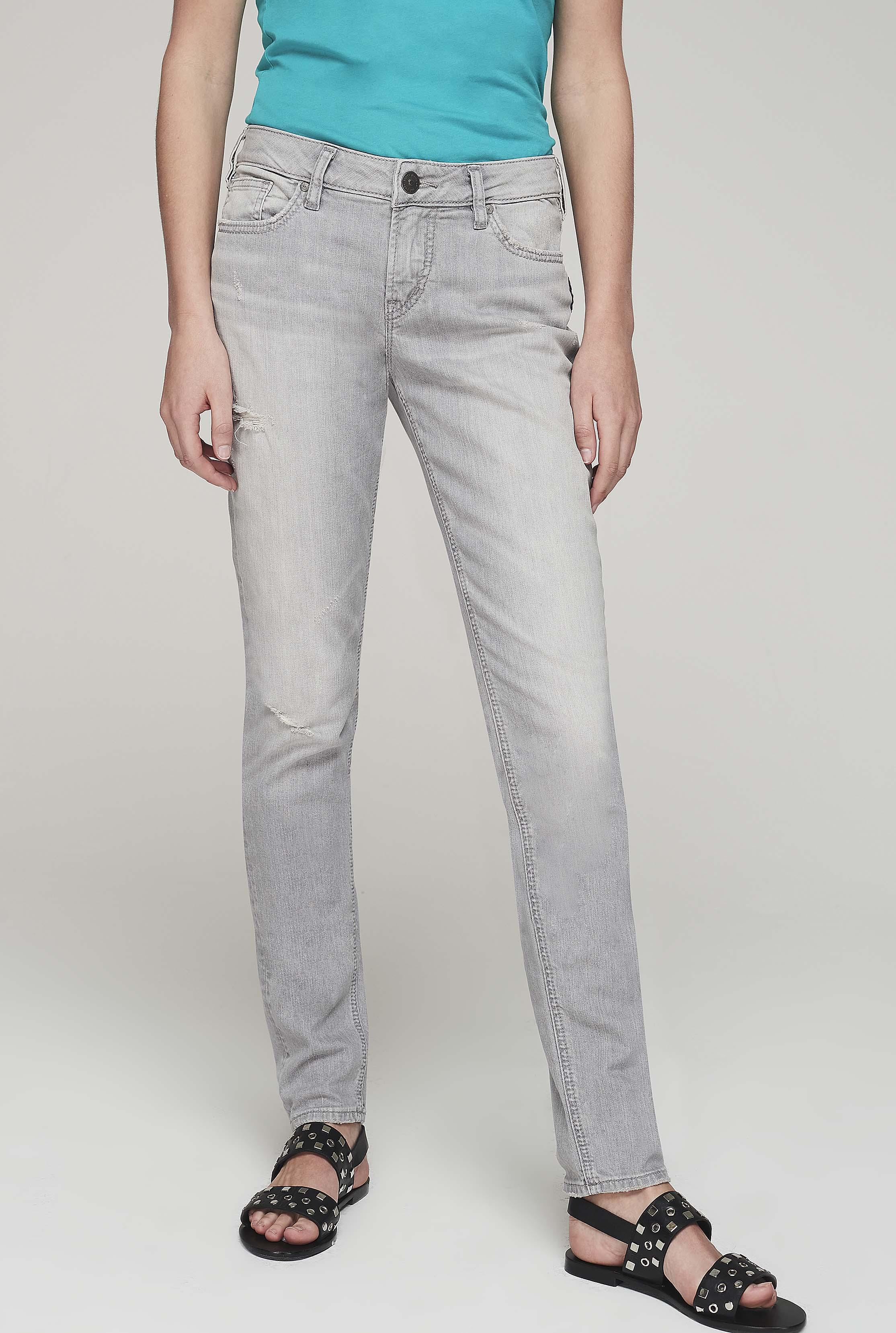 Silver Aiko Skinny Grey Jeans