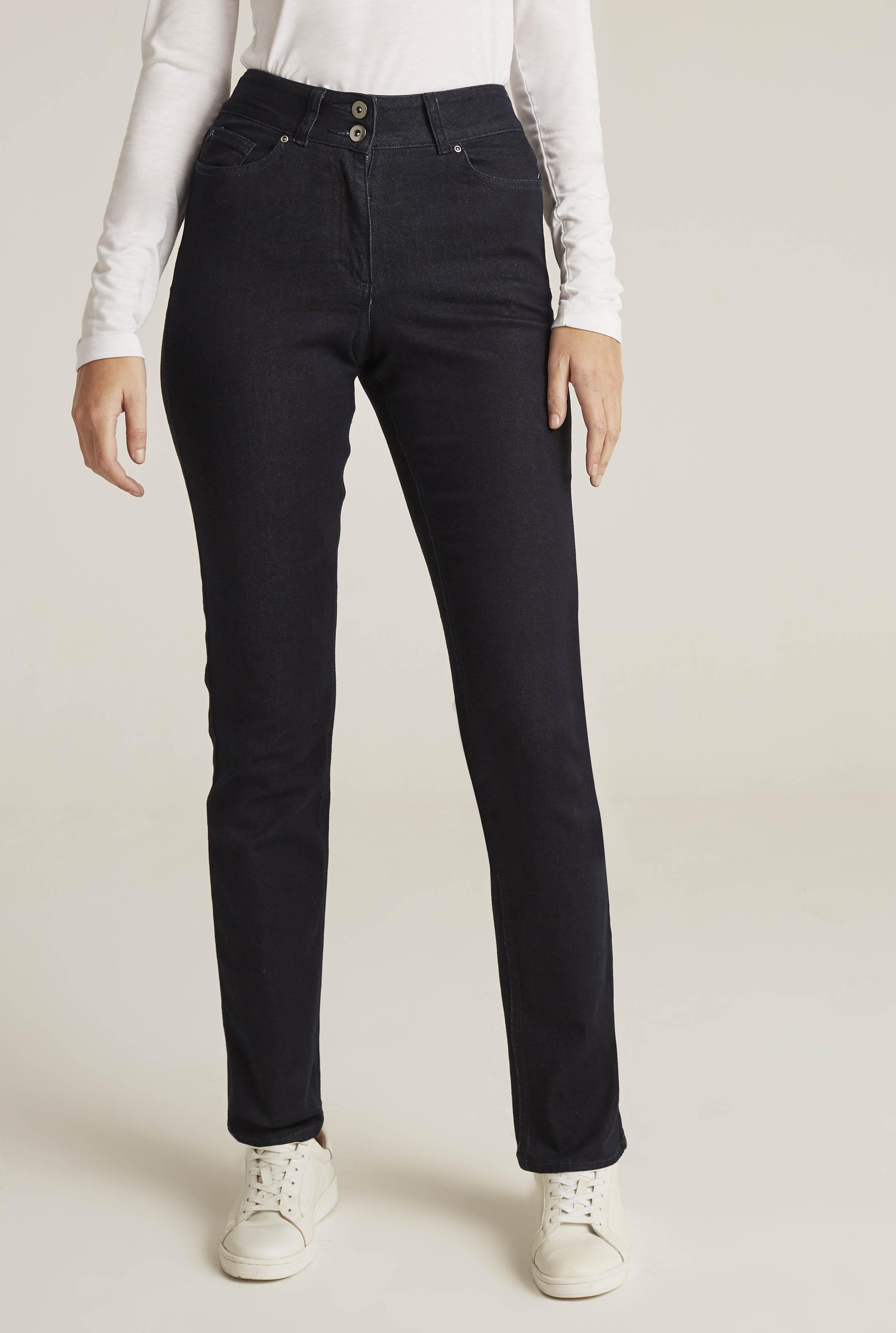 Dark Indigo Straight Leg High Rise Jean