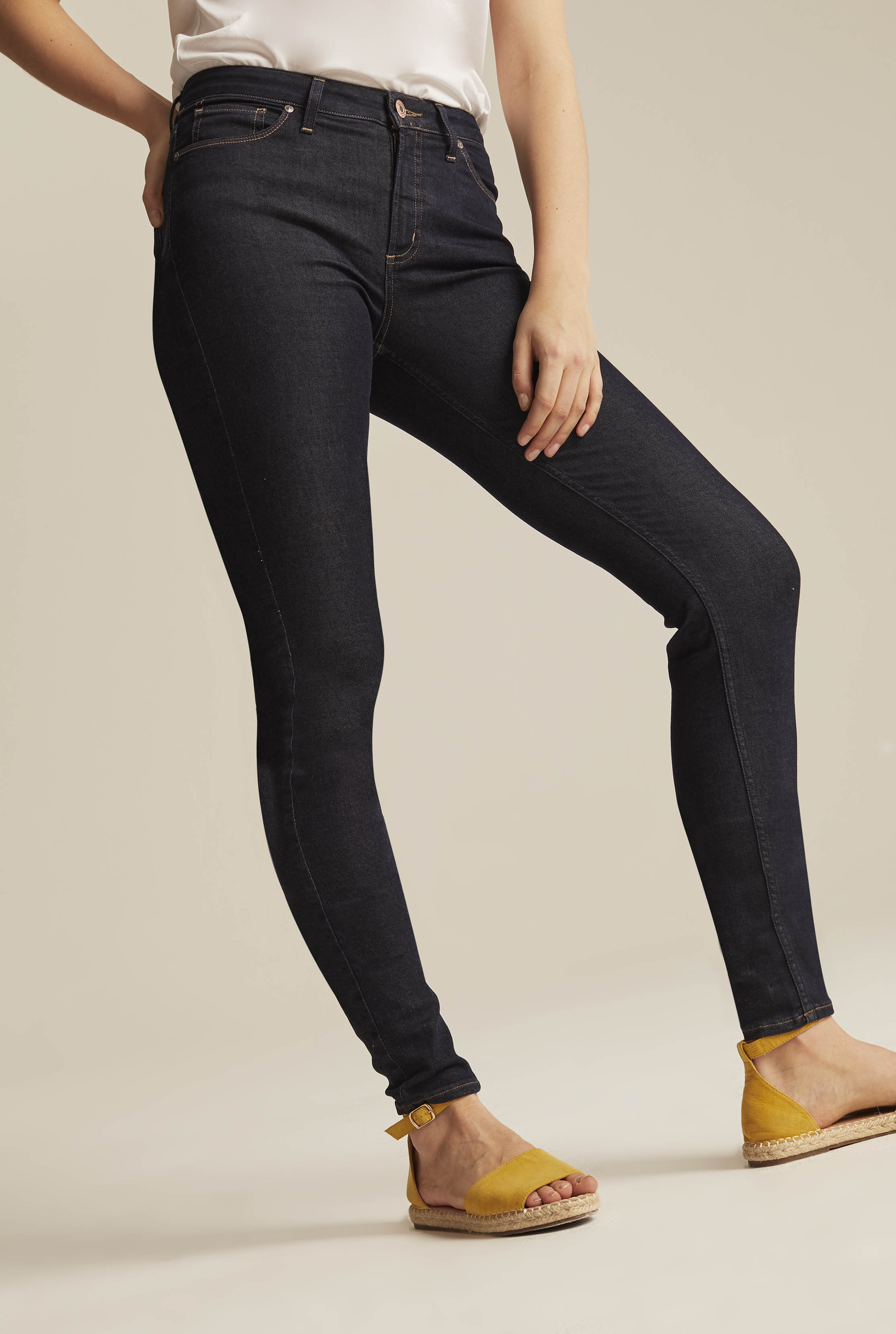 Silver Mazy Skinny Jean In Dark Denim