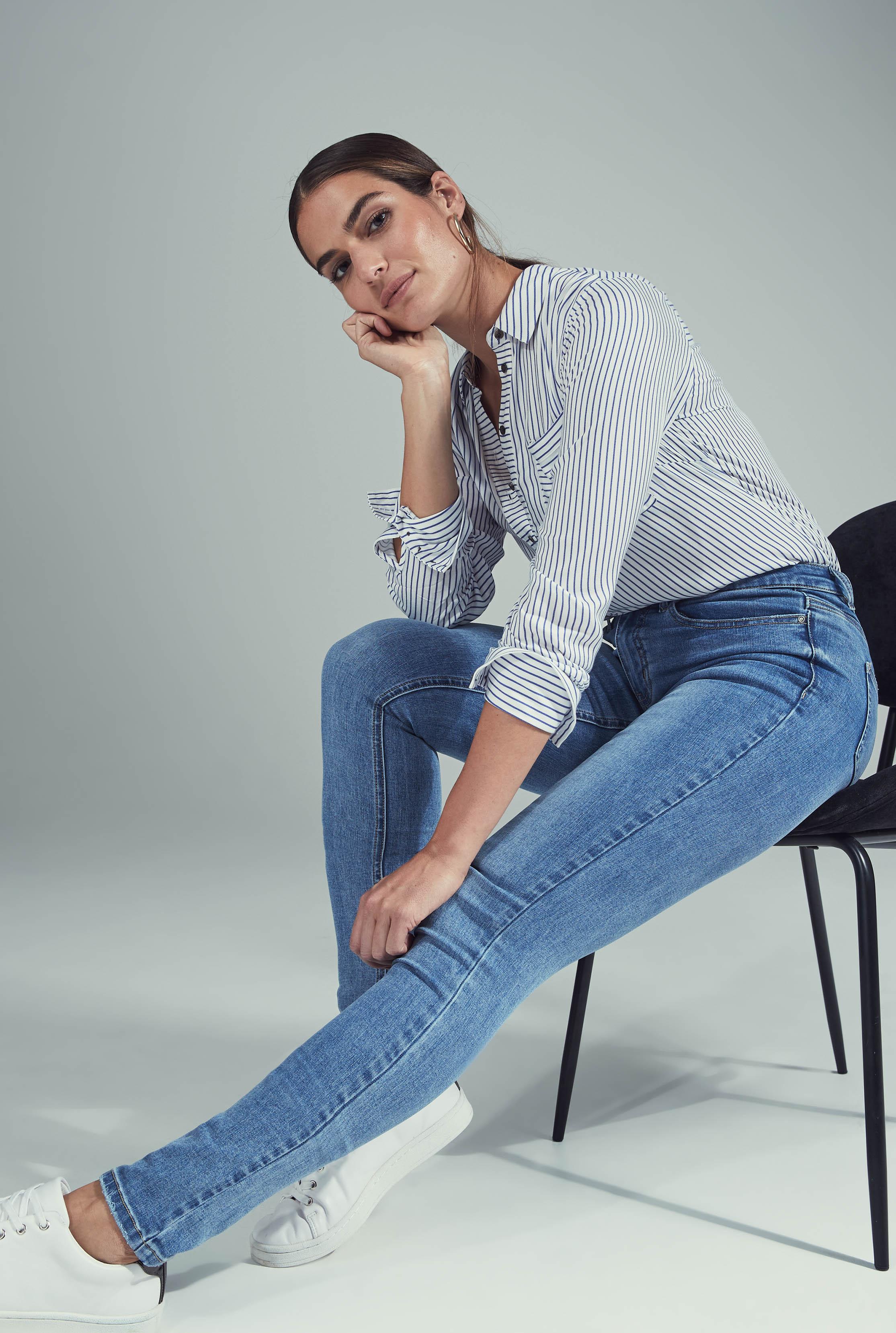 Light Blue Skinny Low Rise Jeans