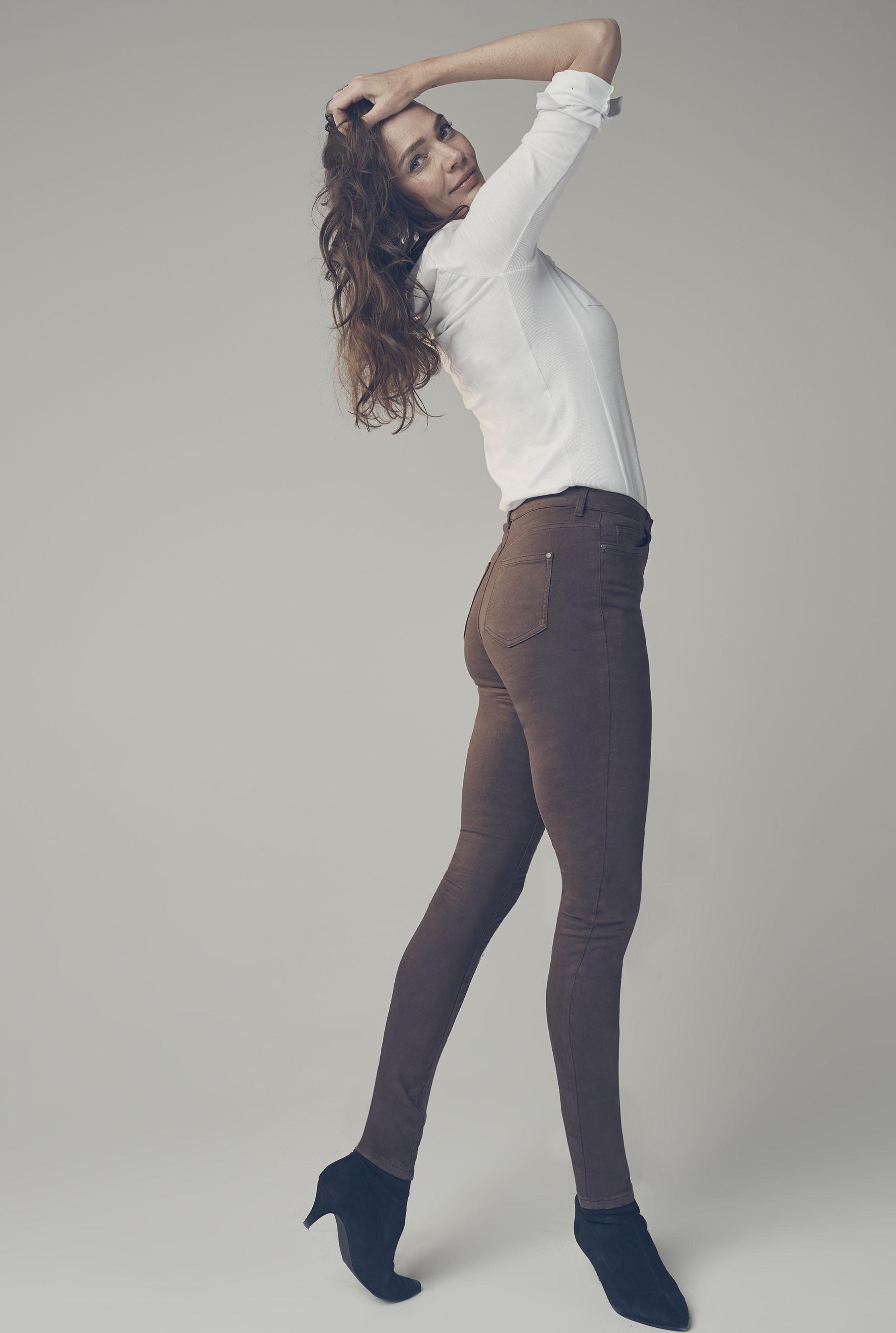 Brown Ultra Stretch Skinny Jeans