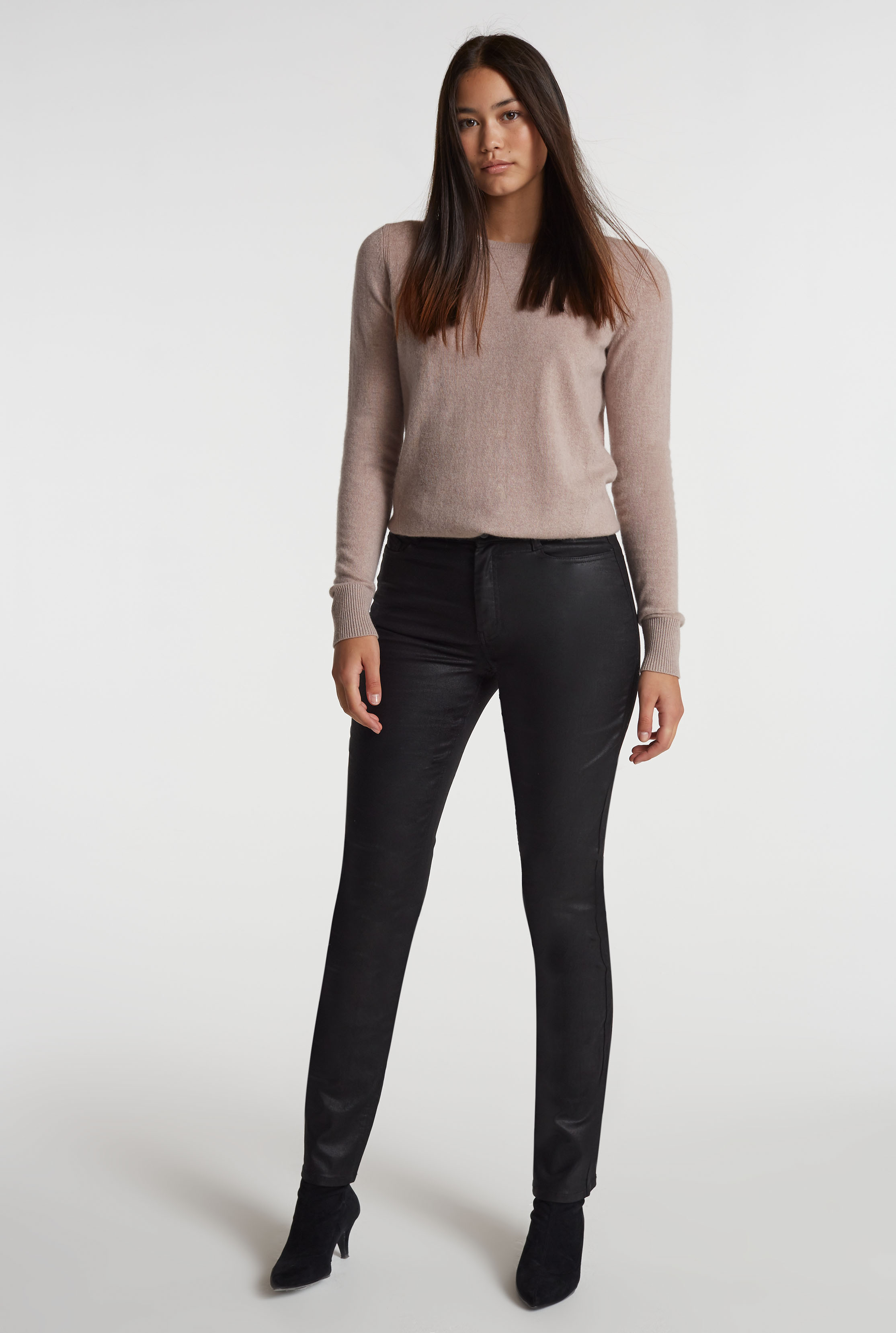 Coated Slim Leg Jean