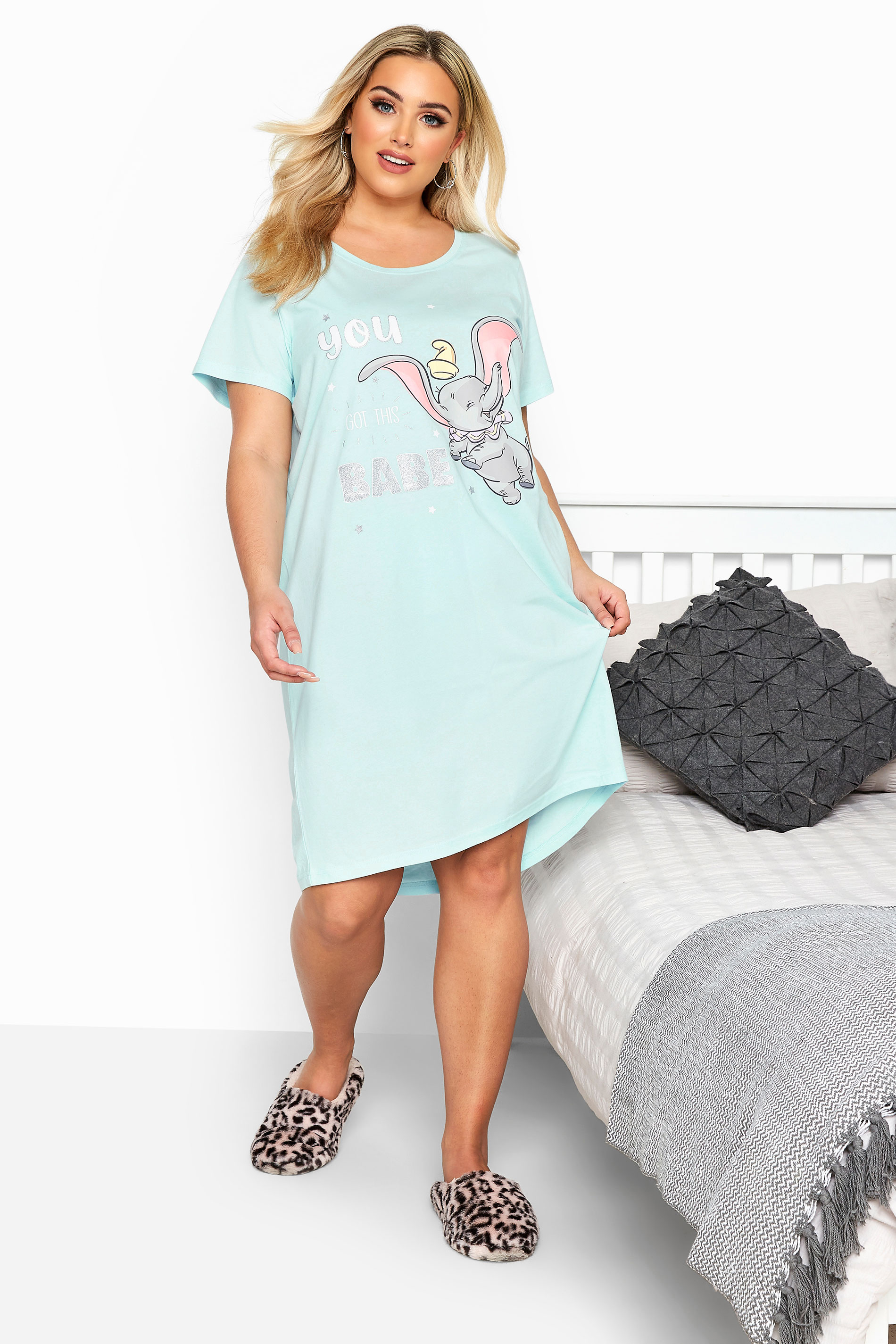 Blue Disney 'You Got This Babe' Dumbo Nightdress