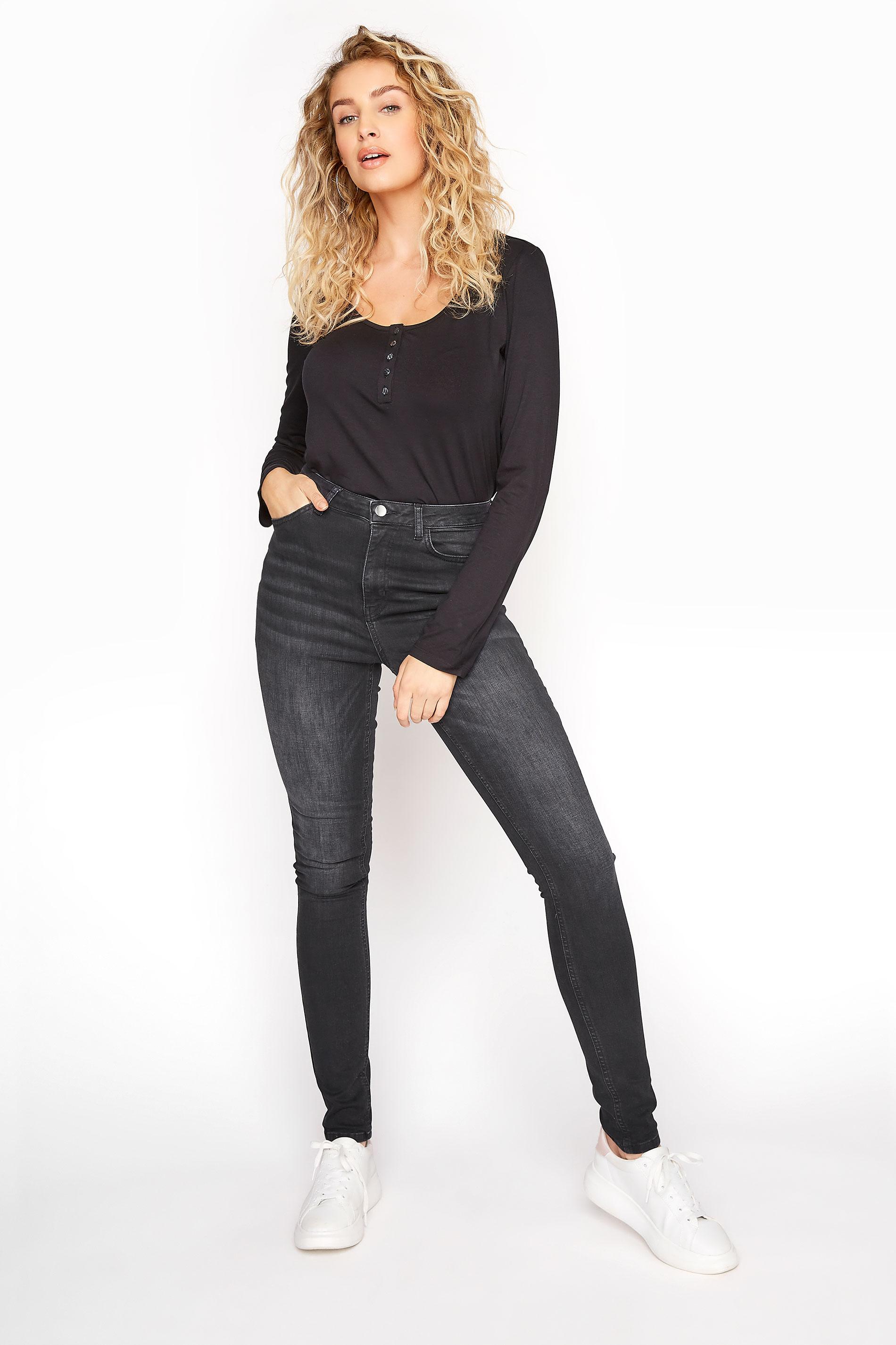 Washed Black Ultra Stretch Skinny Jeans