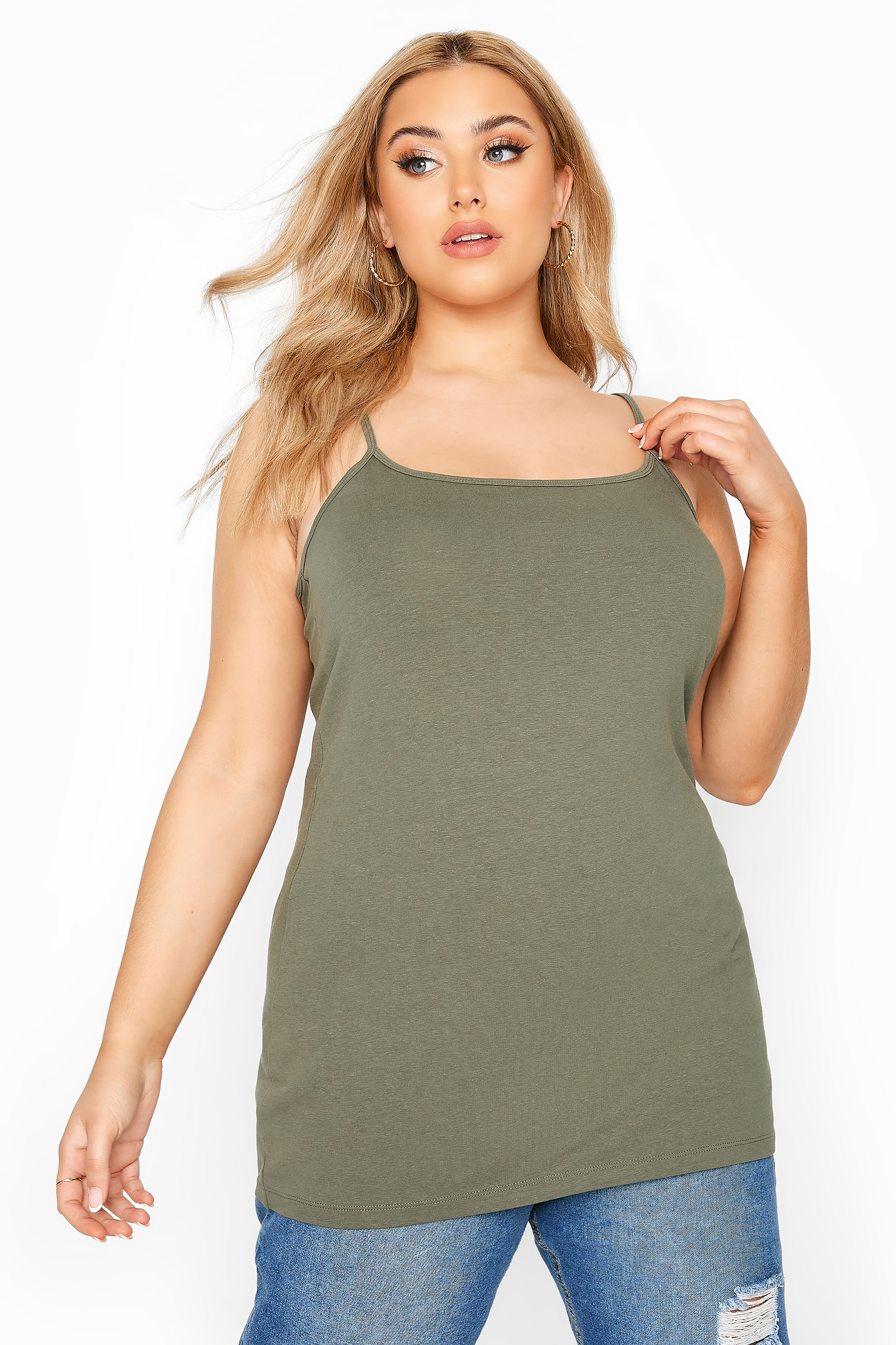 Khaki Green Cami Vest Top
