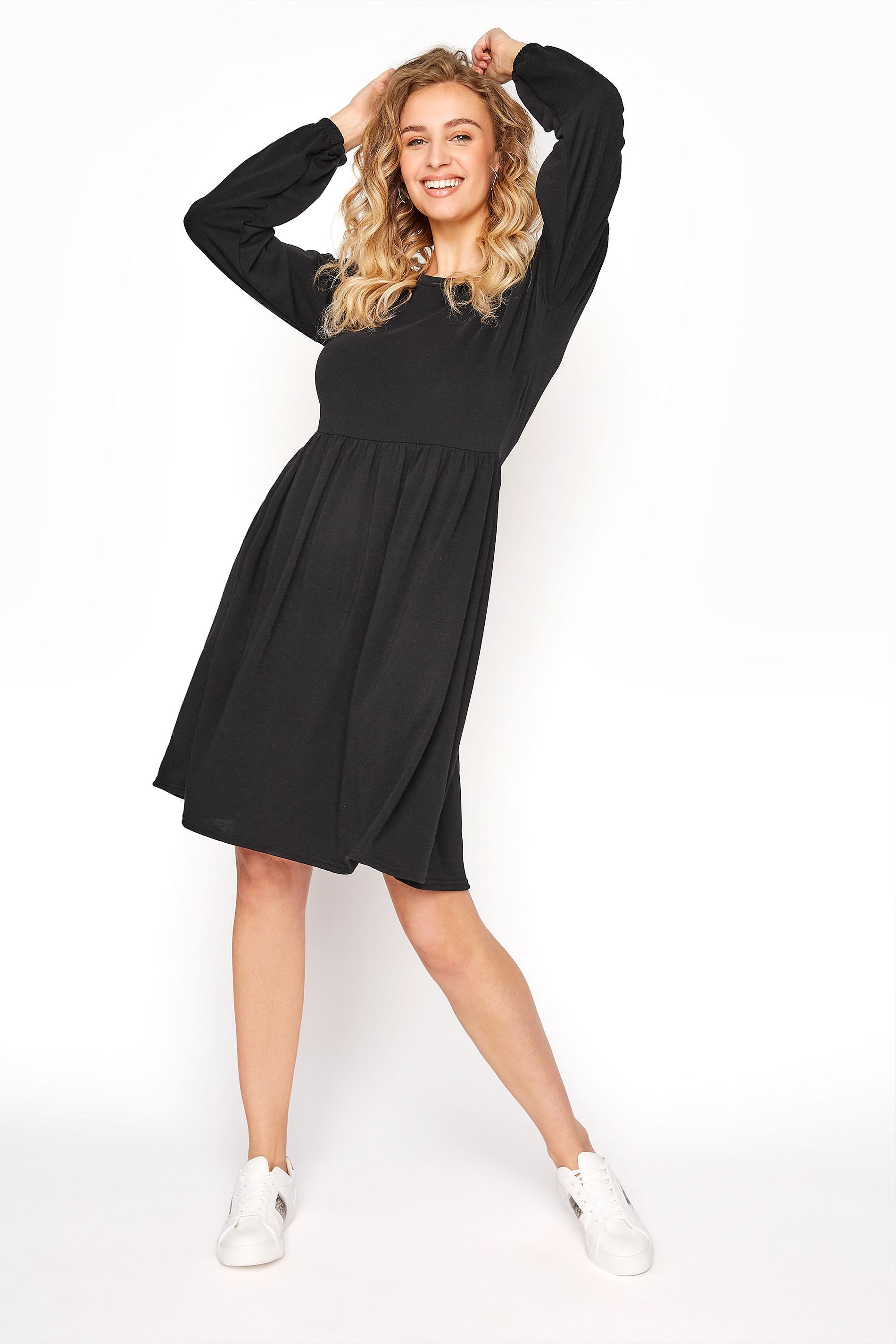 LTS Black Smock Dress