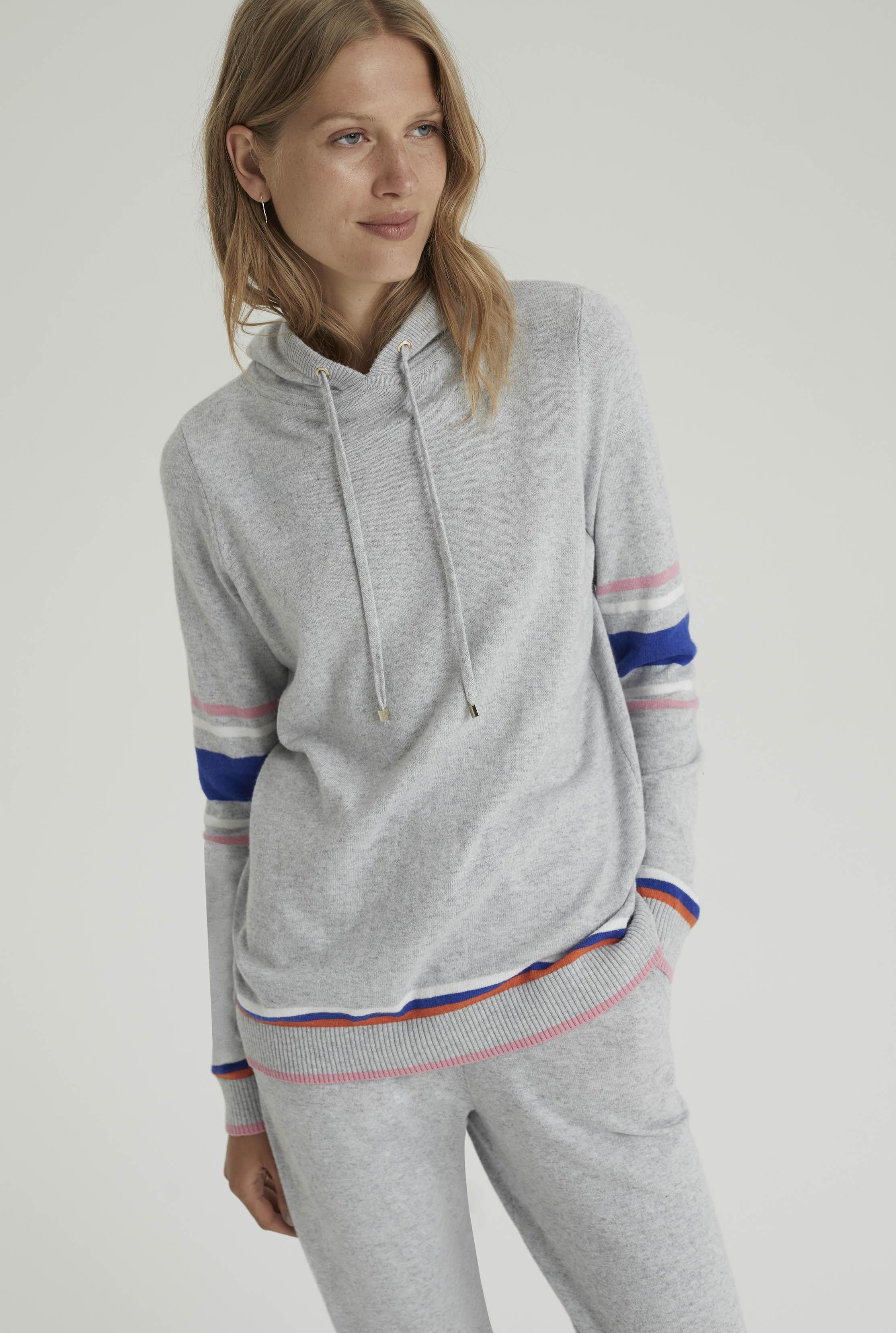 Grey Premium Knitted Hoodie
