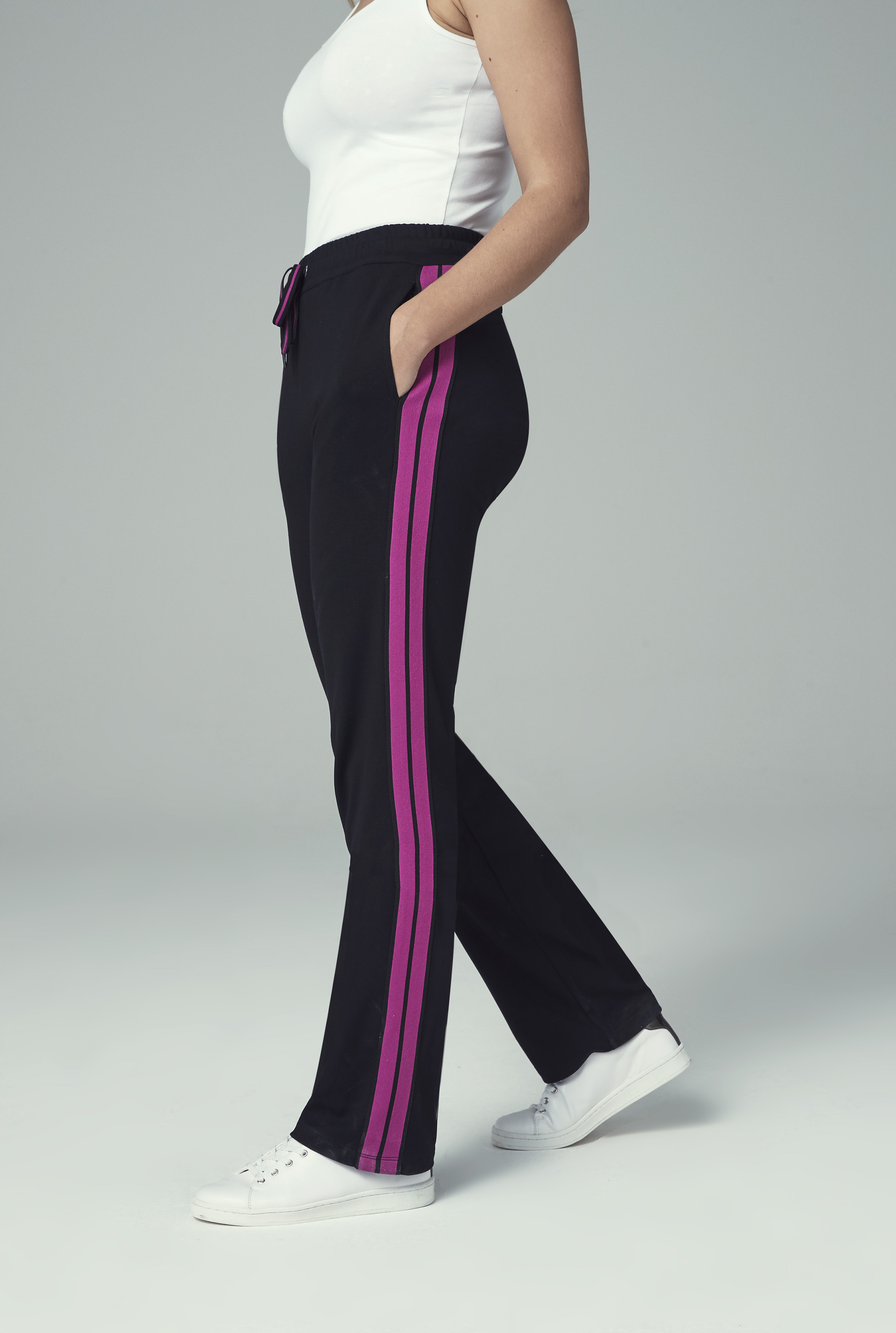Side Stripe Straight Jogger