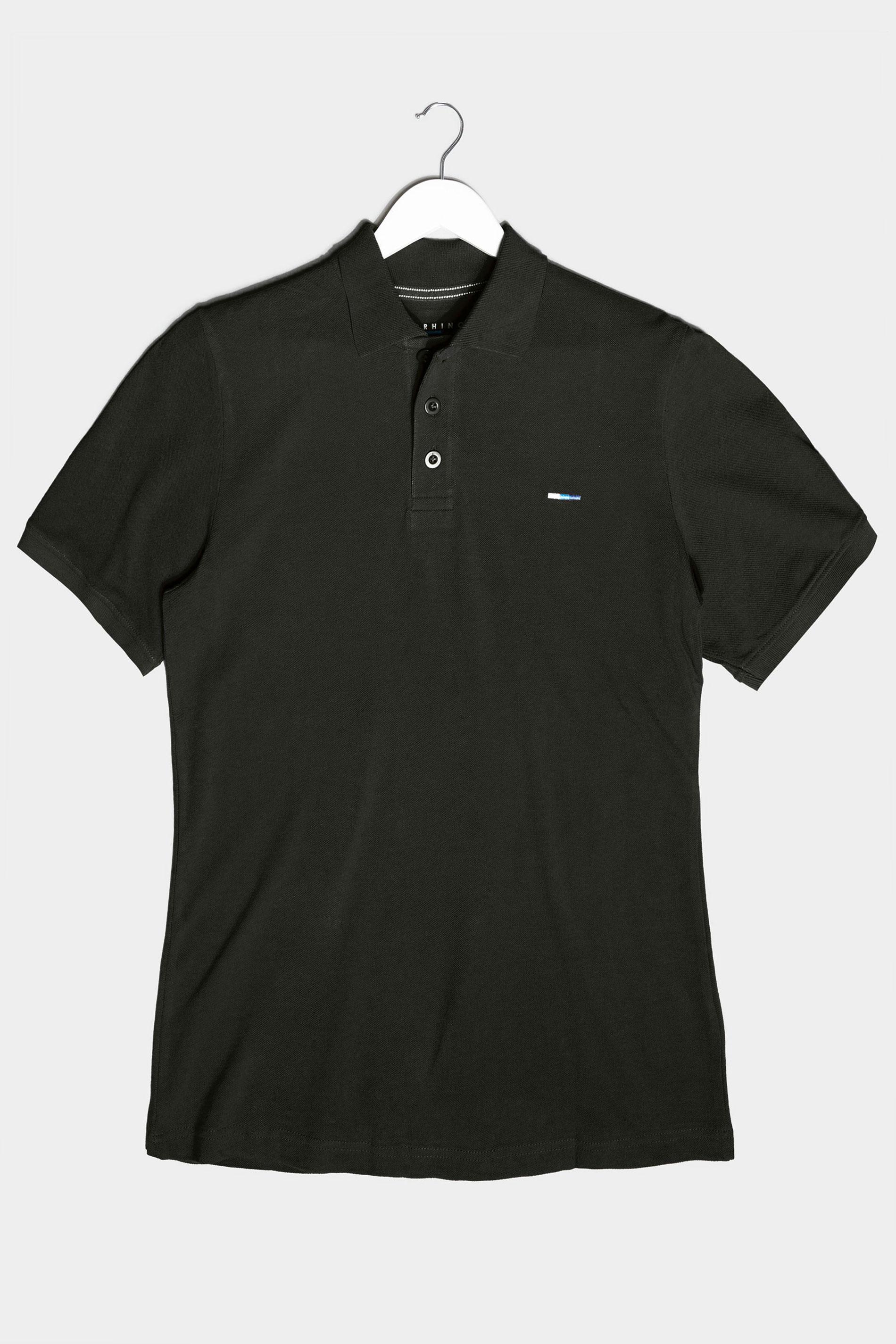 BadRhino Black Essential Polo Shirt