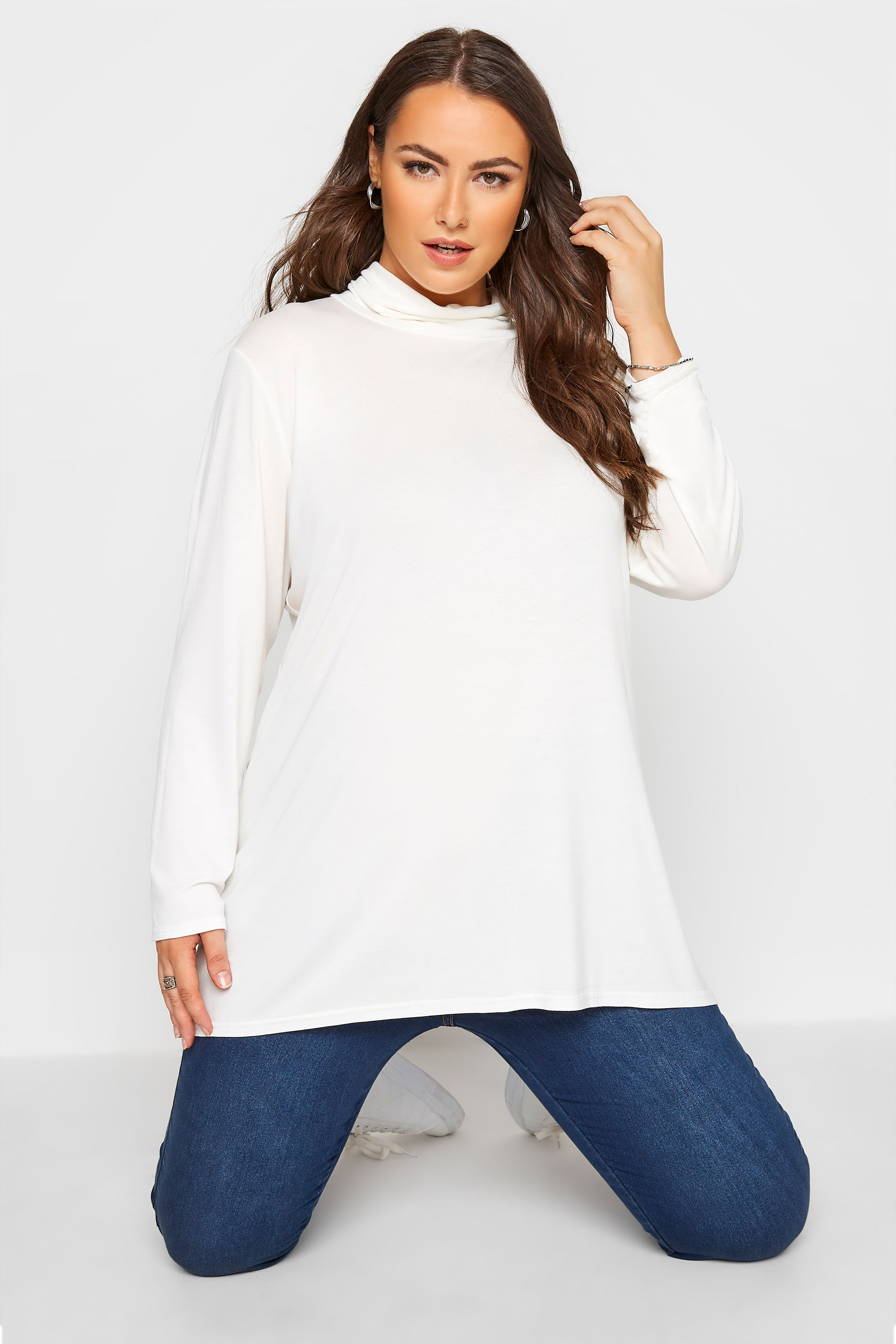 LIMITED COLLECTION White Turtle Neck Top_A.jpg