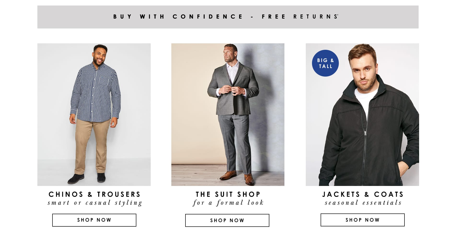 Chinos - Suits - Jackets