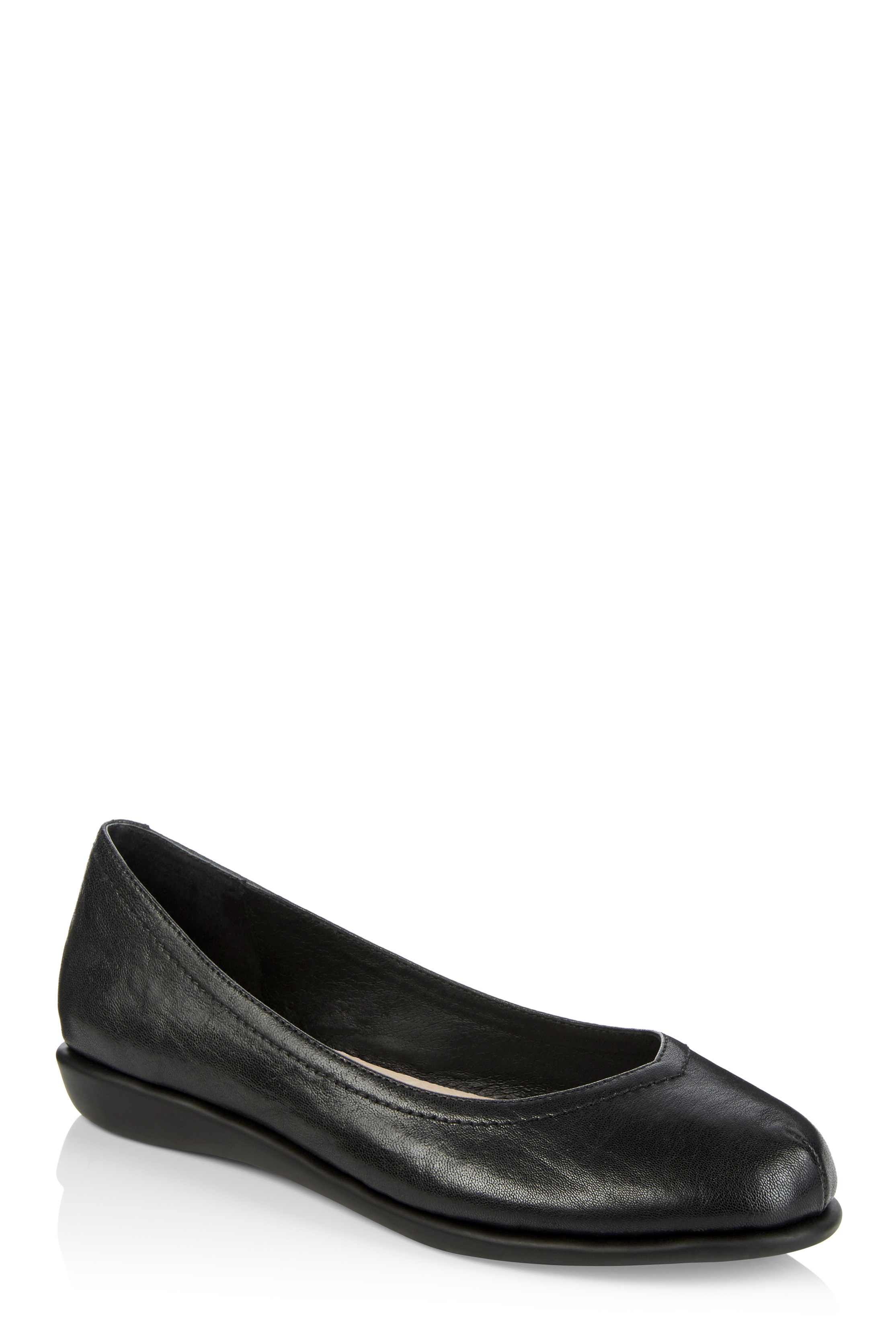 LTS Callie Comfy Leather Ballerina