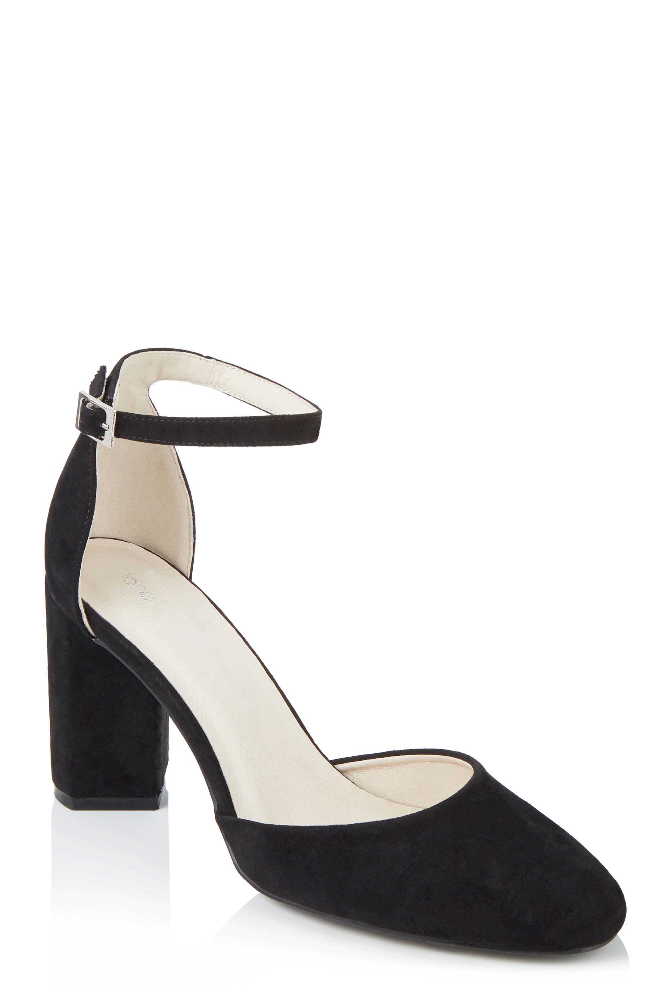 LTS Black Ellie Embroidered Heel