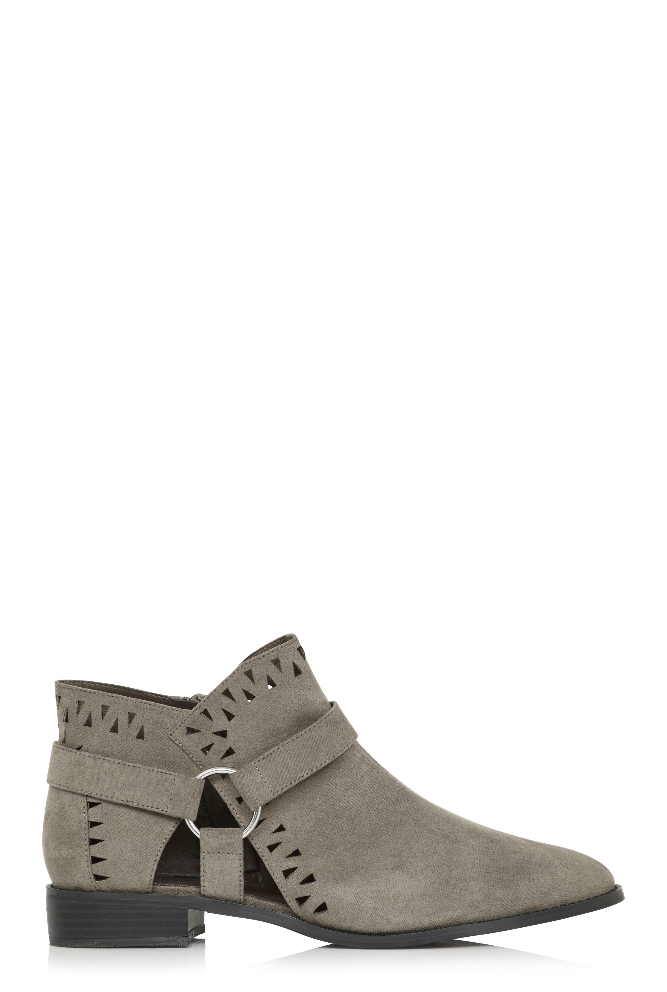 LTS Grey Bryony Cut Out Detail Ankle Boot