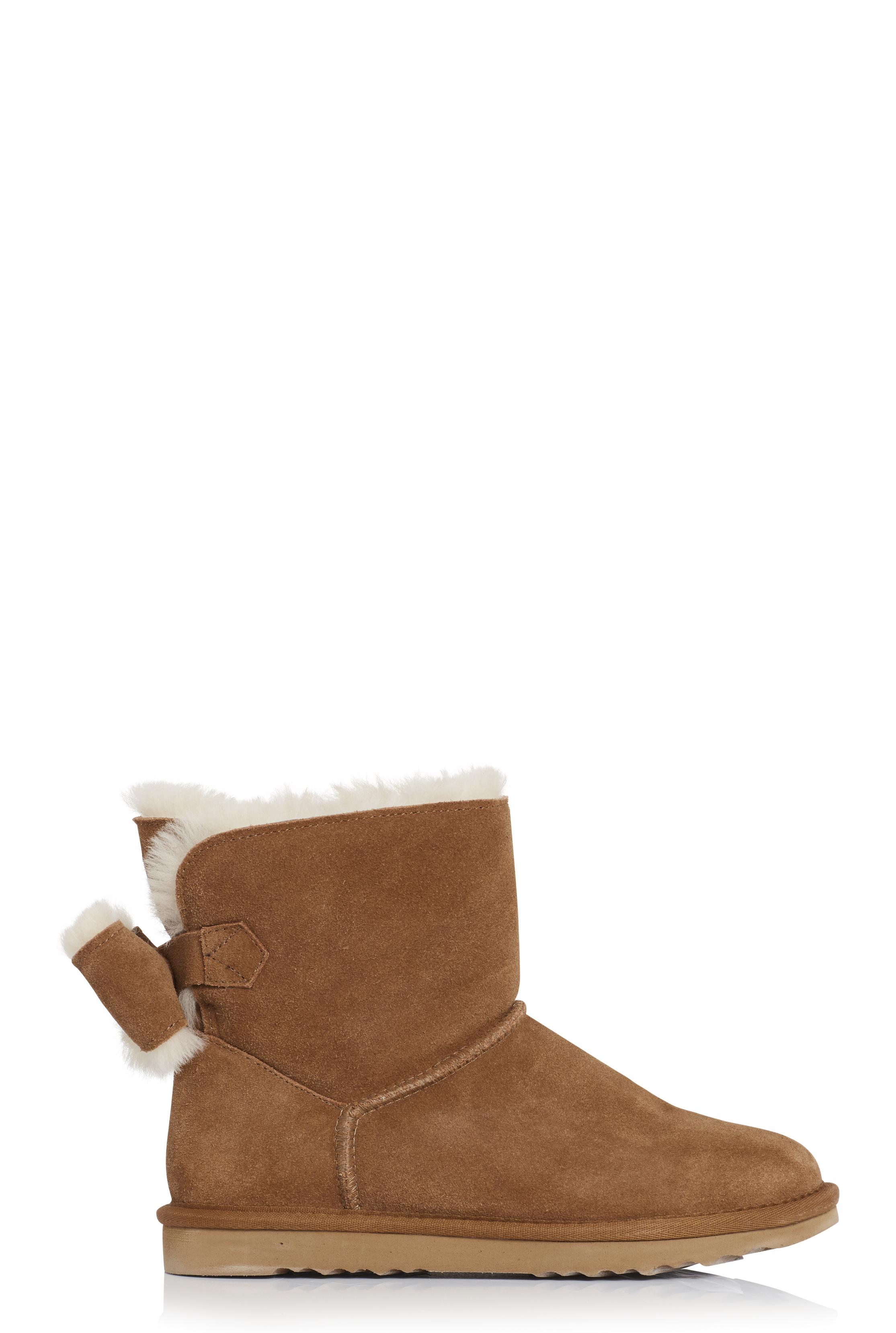 Brown Suri Sheepskin Lined Suede Boot