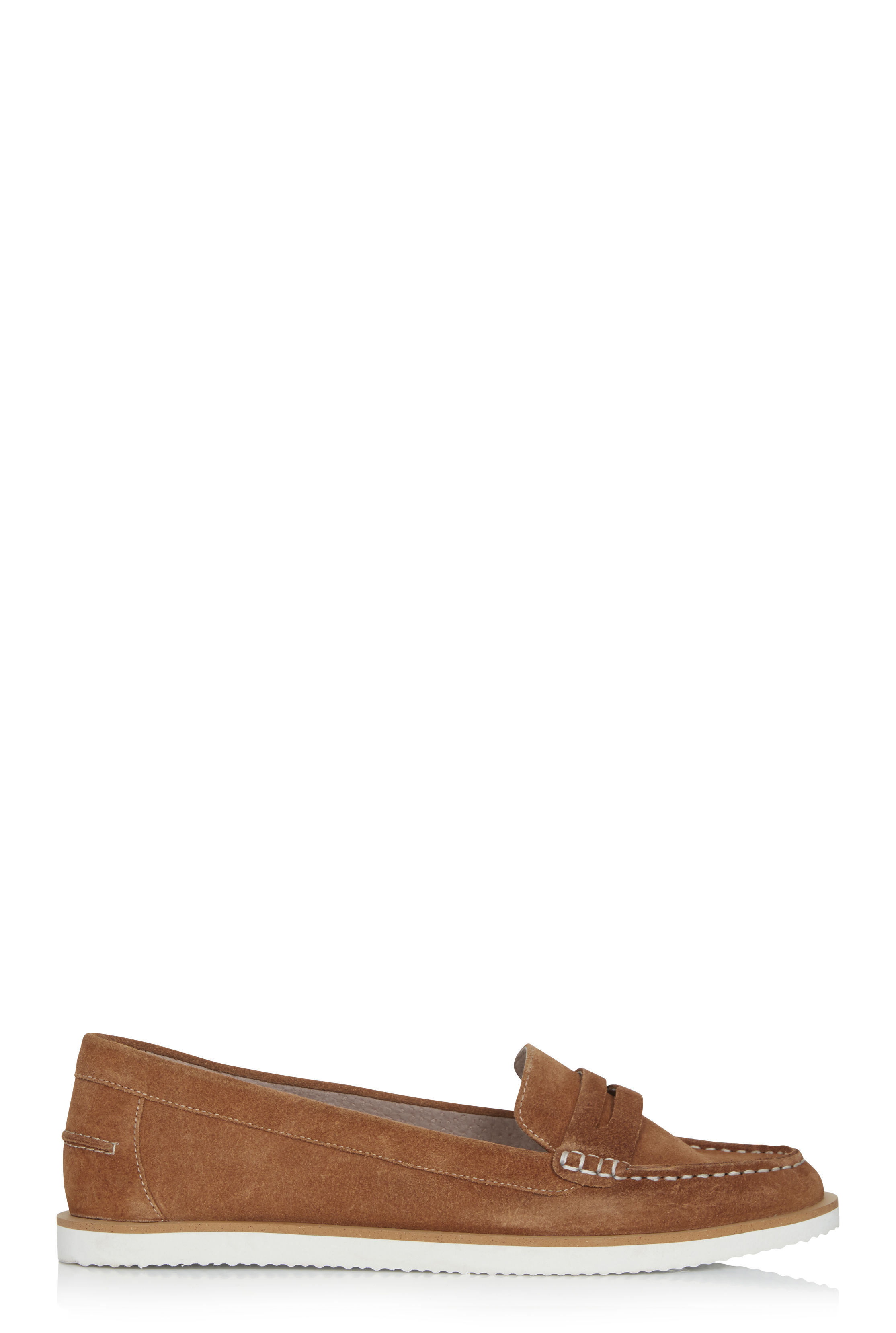 LTS Tan Lilly Suede Boat Shoe