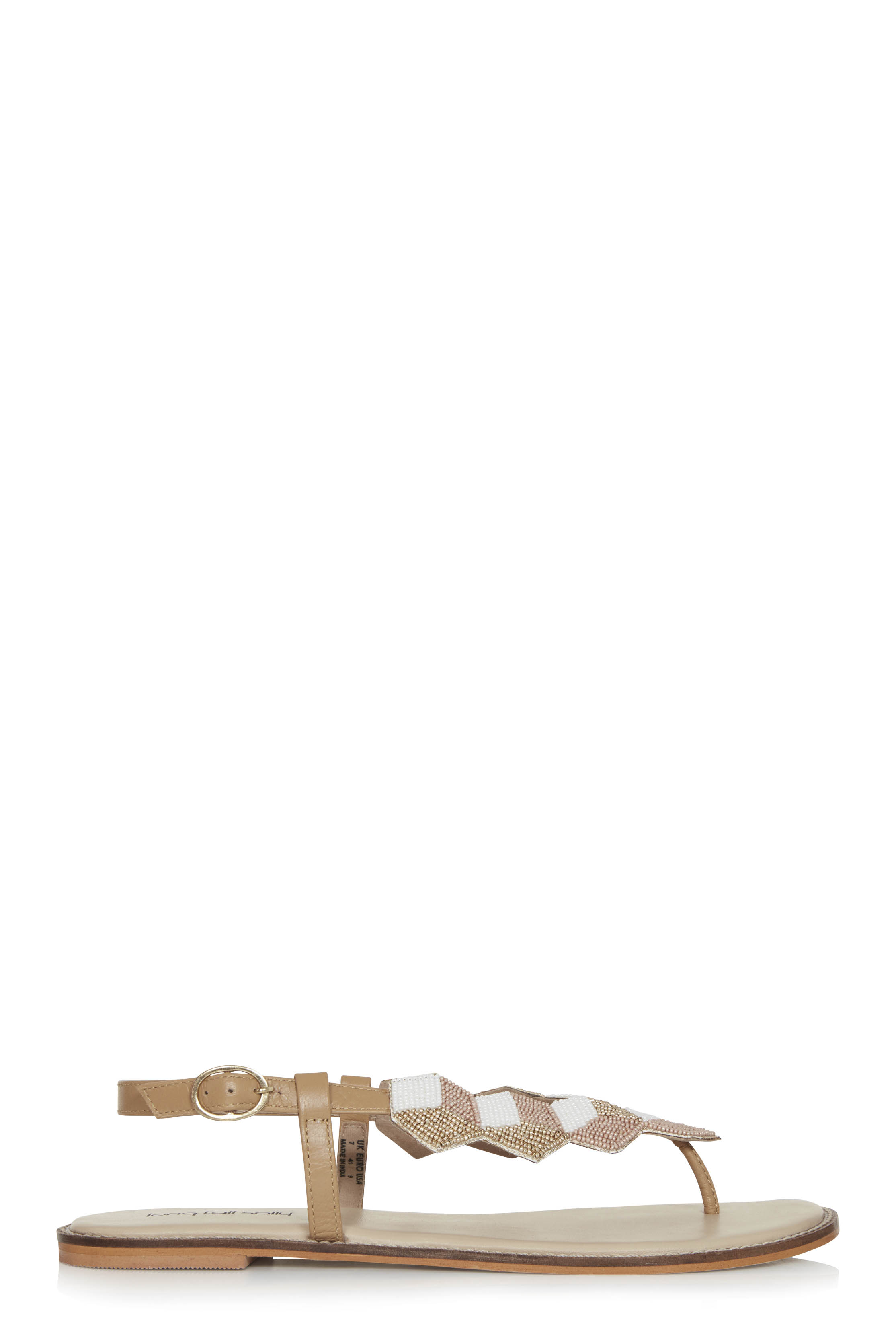 LTS Chrystal Beaded T-Bar Sandal