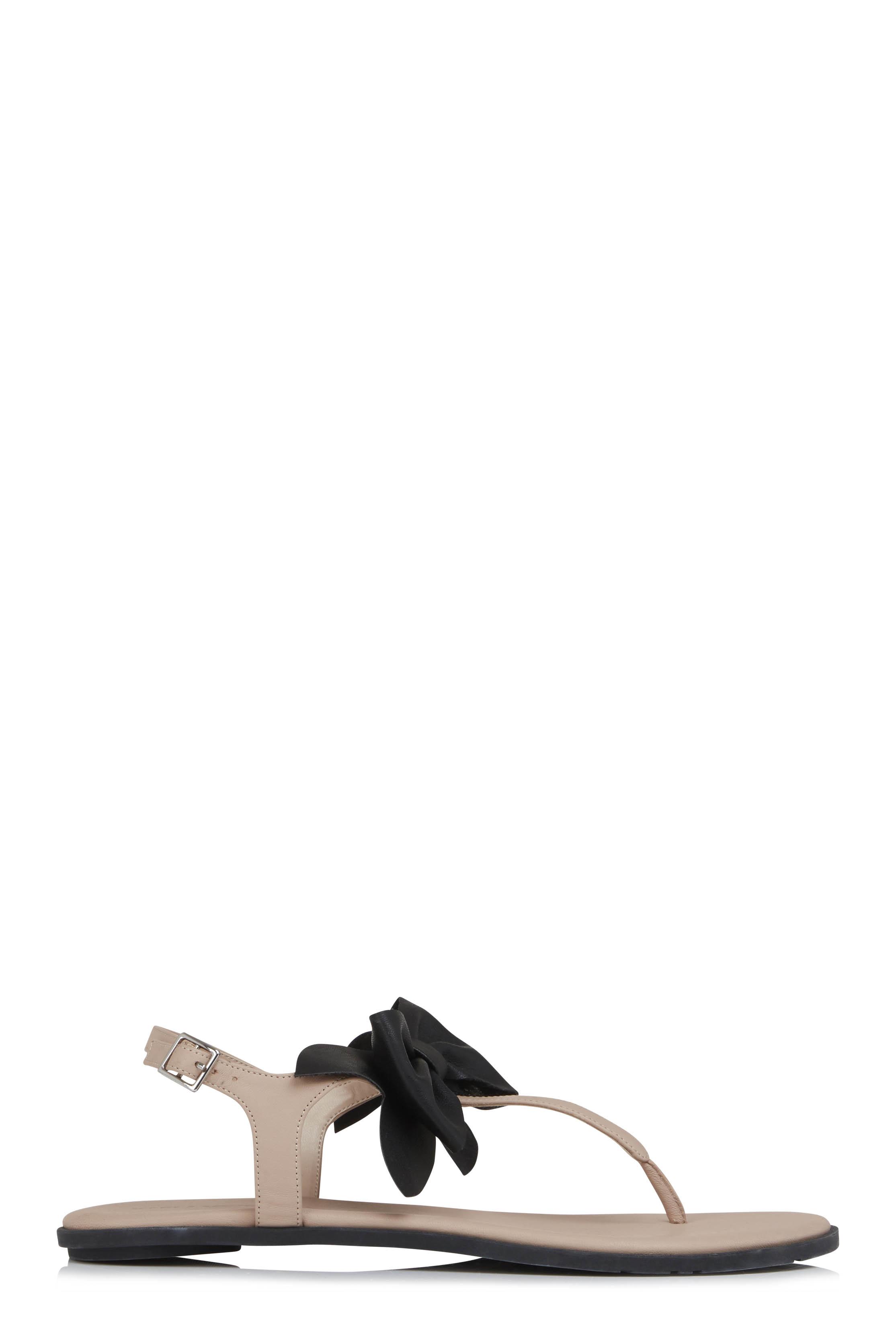 Karl Lagerfeld Paris Goldie Bow Flat Sandals