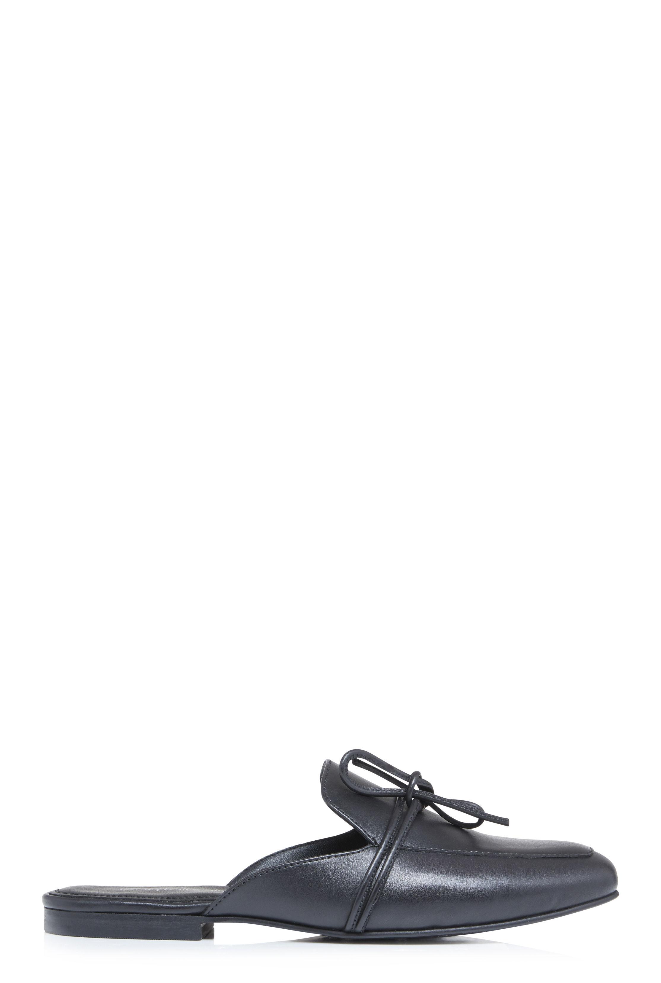 LTS Black Klara Leather Mule