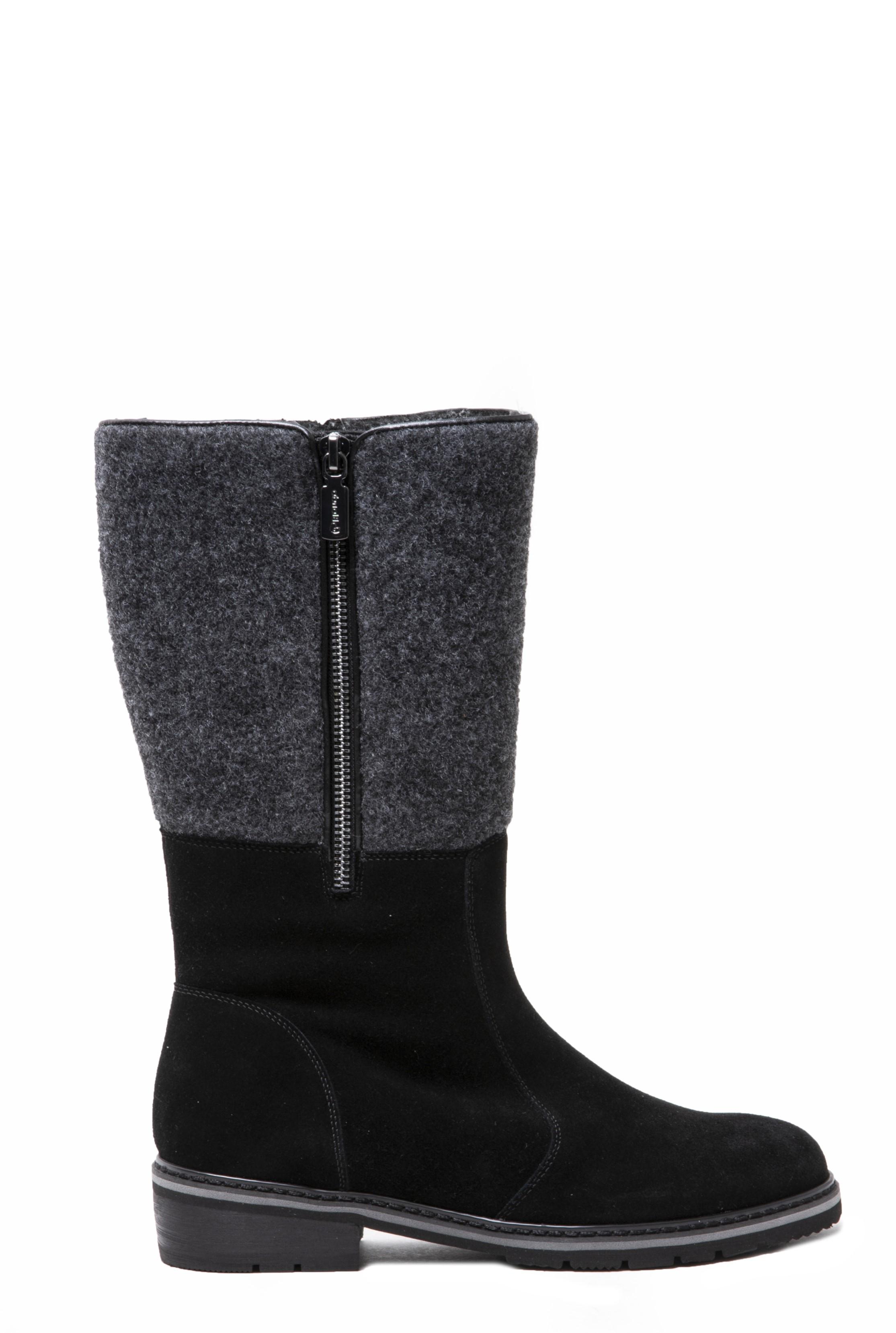BLONDO Black Vanne Suede Zip Boot