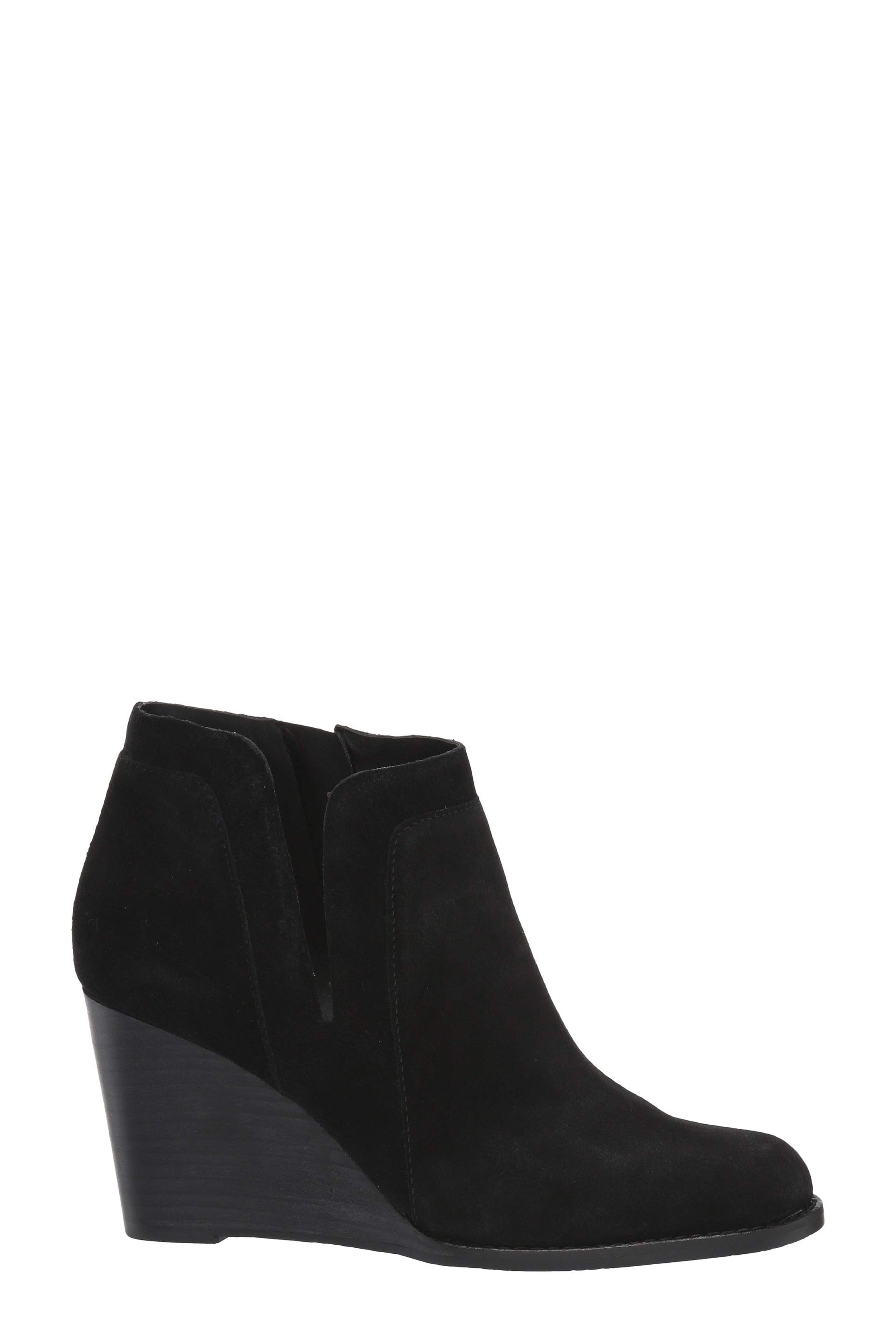 LUCKY BRAND YABBA Black Wedge Ankle Boot