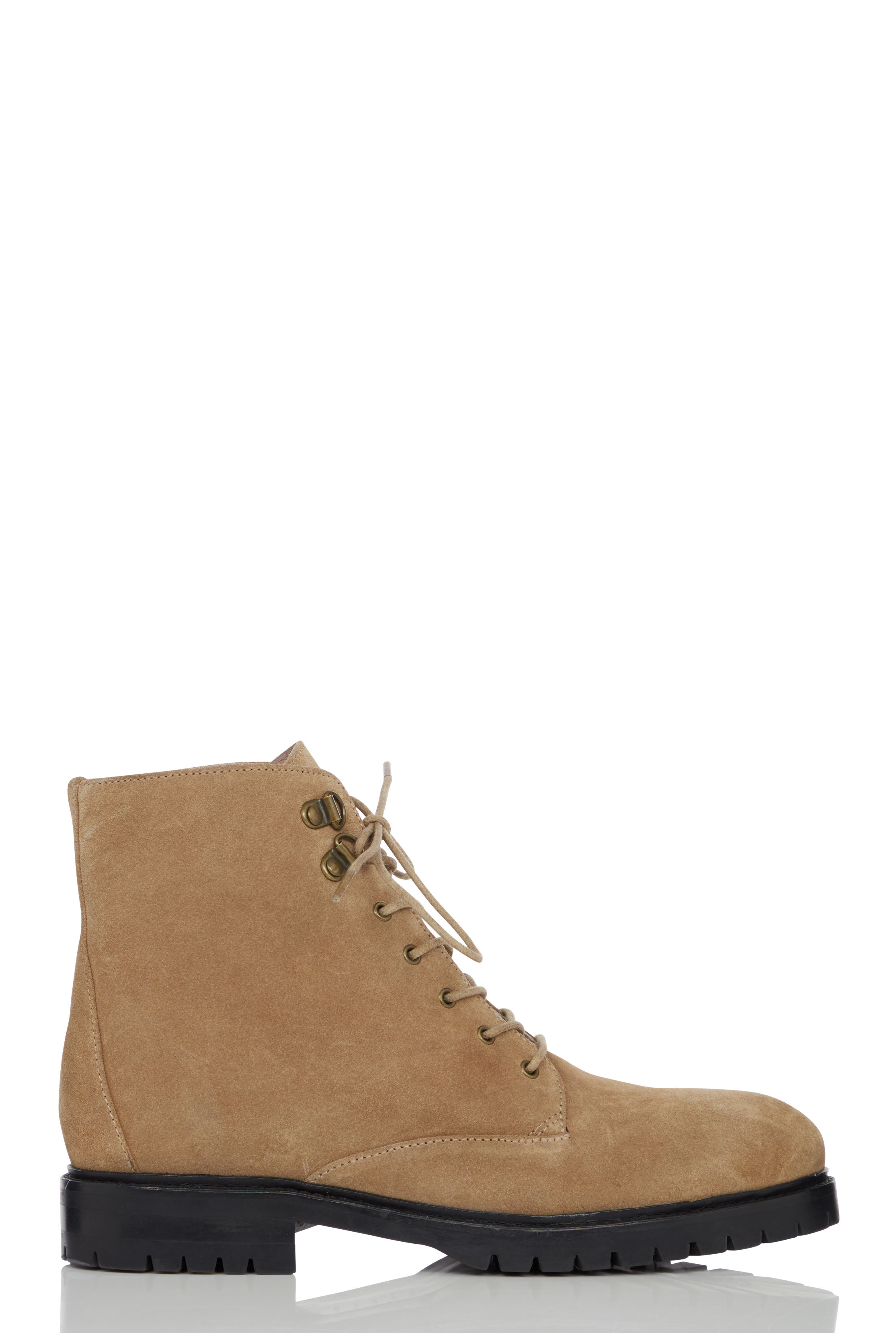 LTS Tan Joanne Leather Lace Up Boot