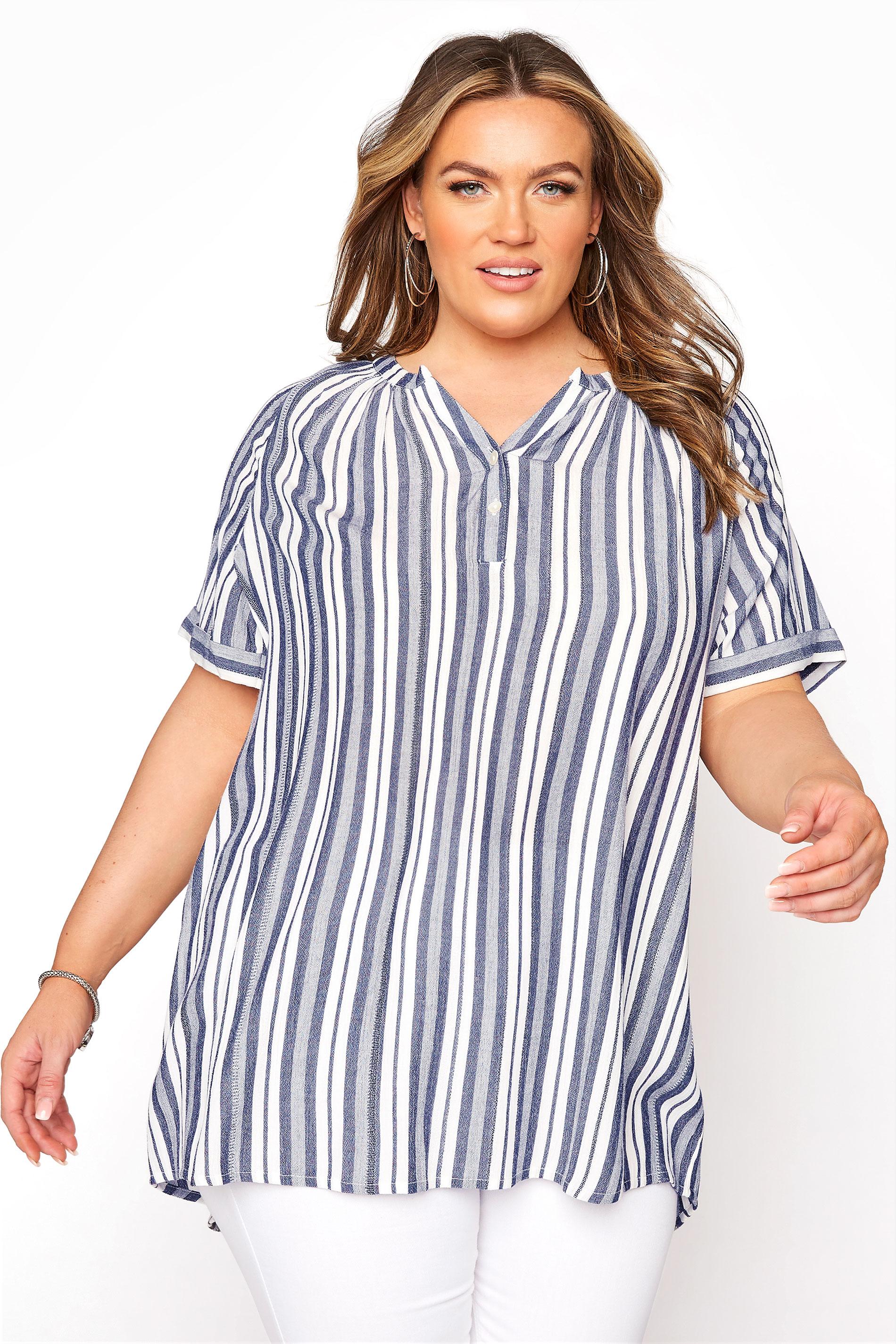Blue Stripe Raglan Sleeve Shirt_A.jpg